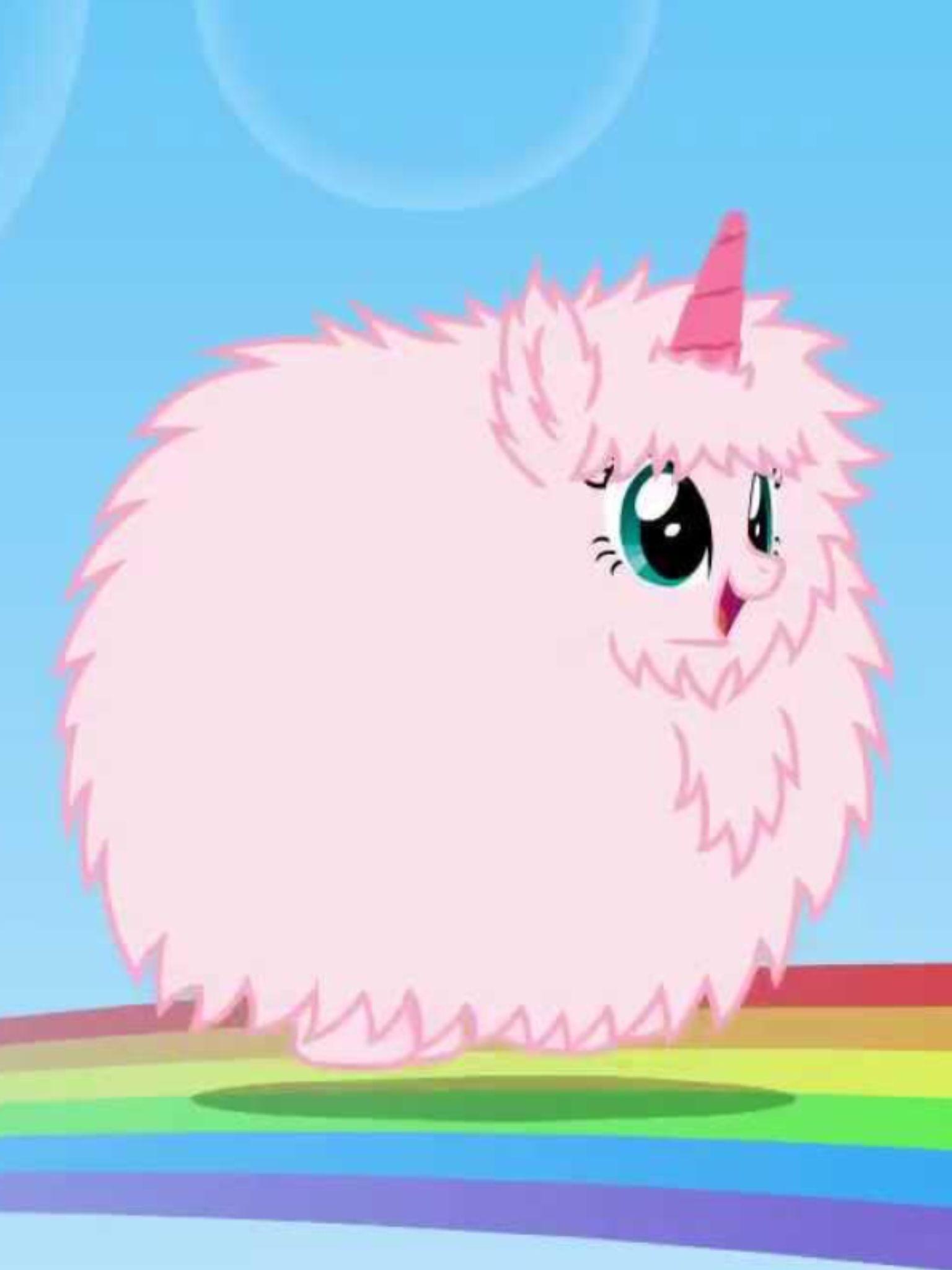 Pink Fluffy Unicorns Dancing On Rainbow Wallpapers