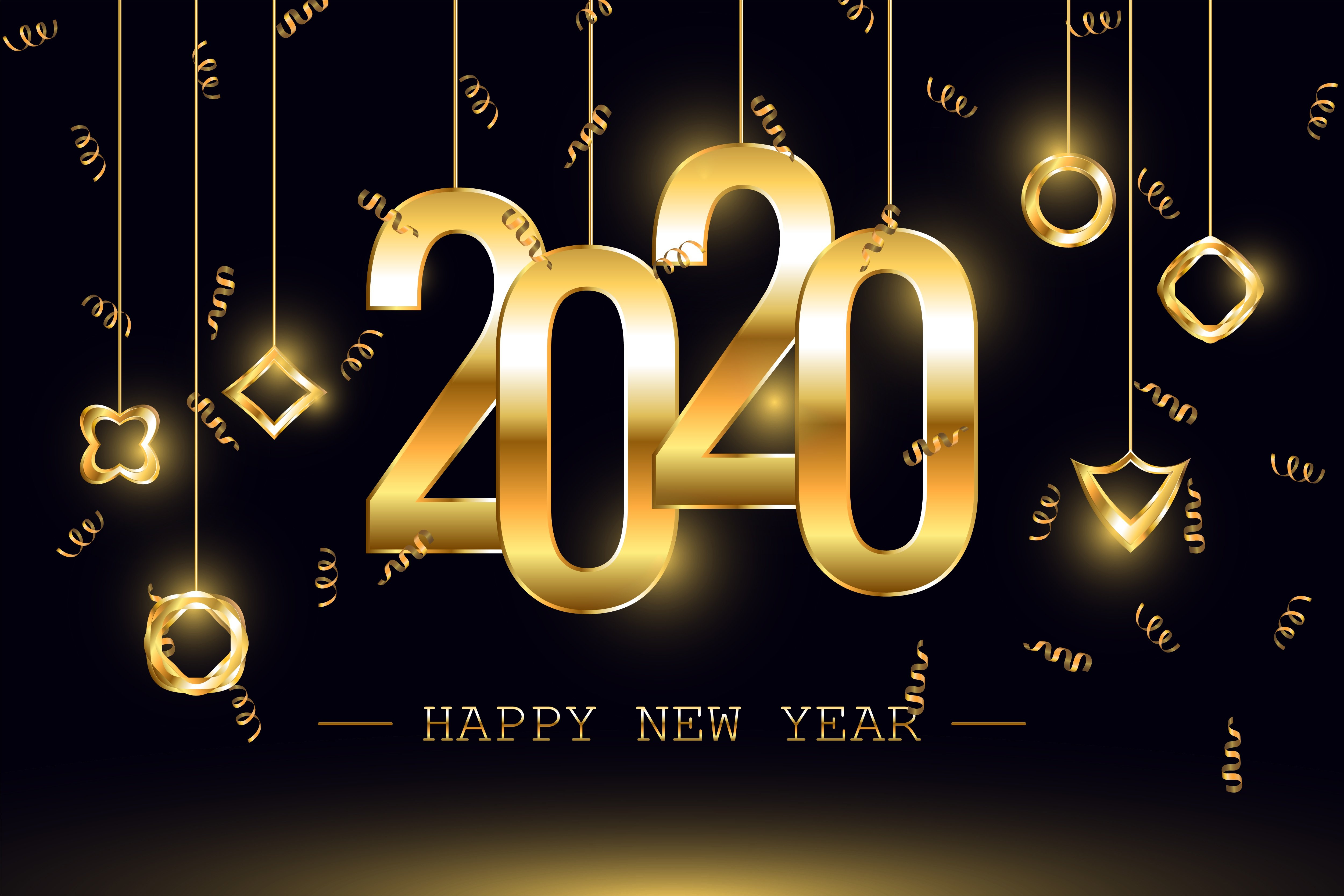 Happy New Year 2020 4k Wallpapers Wallpaper Cave