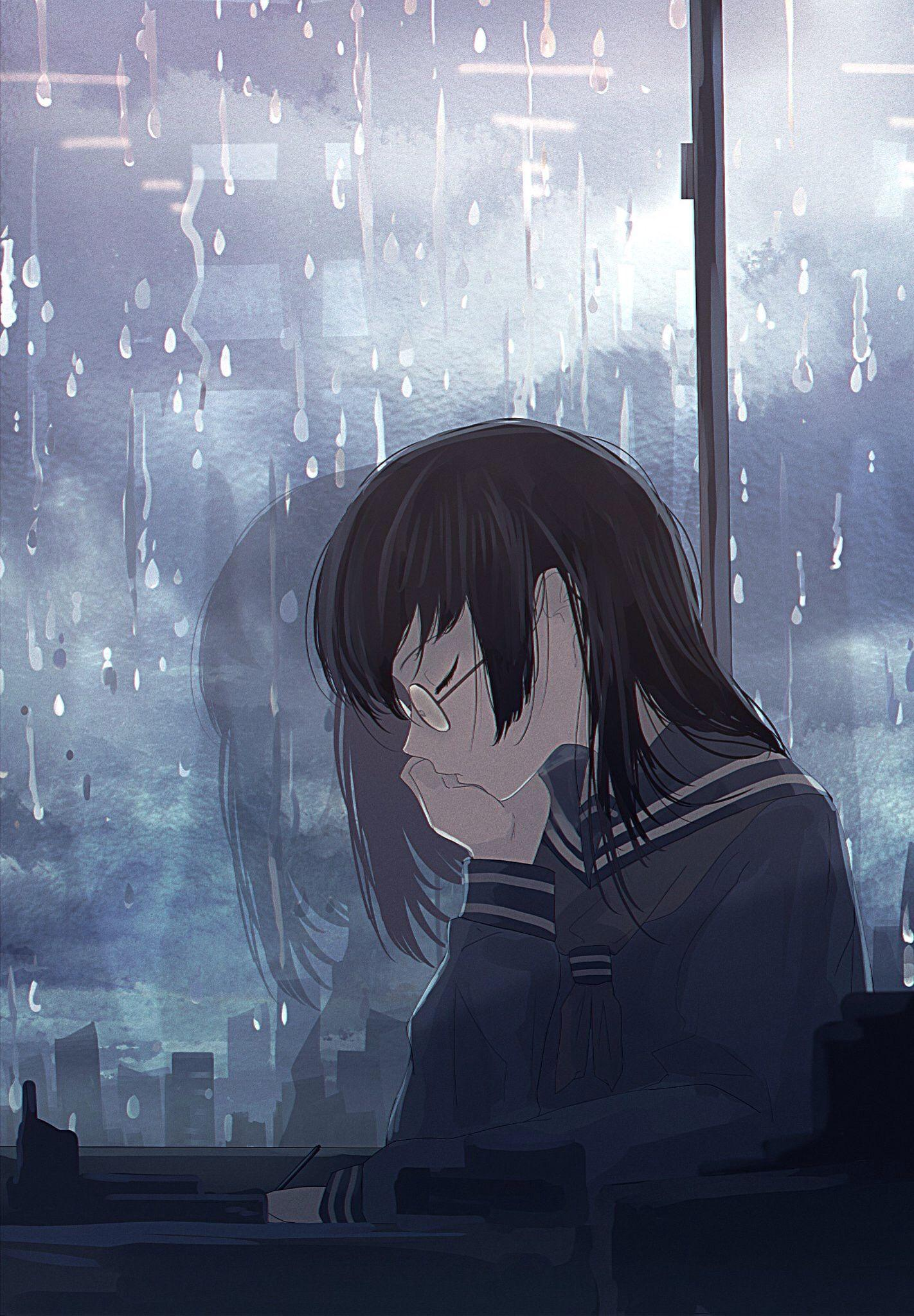 Anime Girl HD Cry Alone Wallpapers - Wallpaper Cave