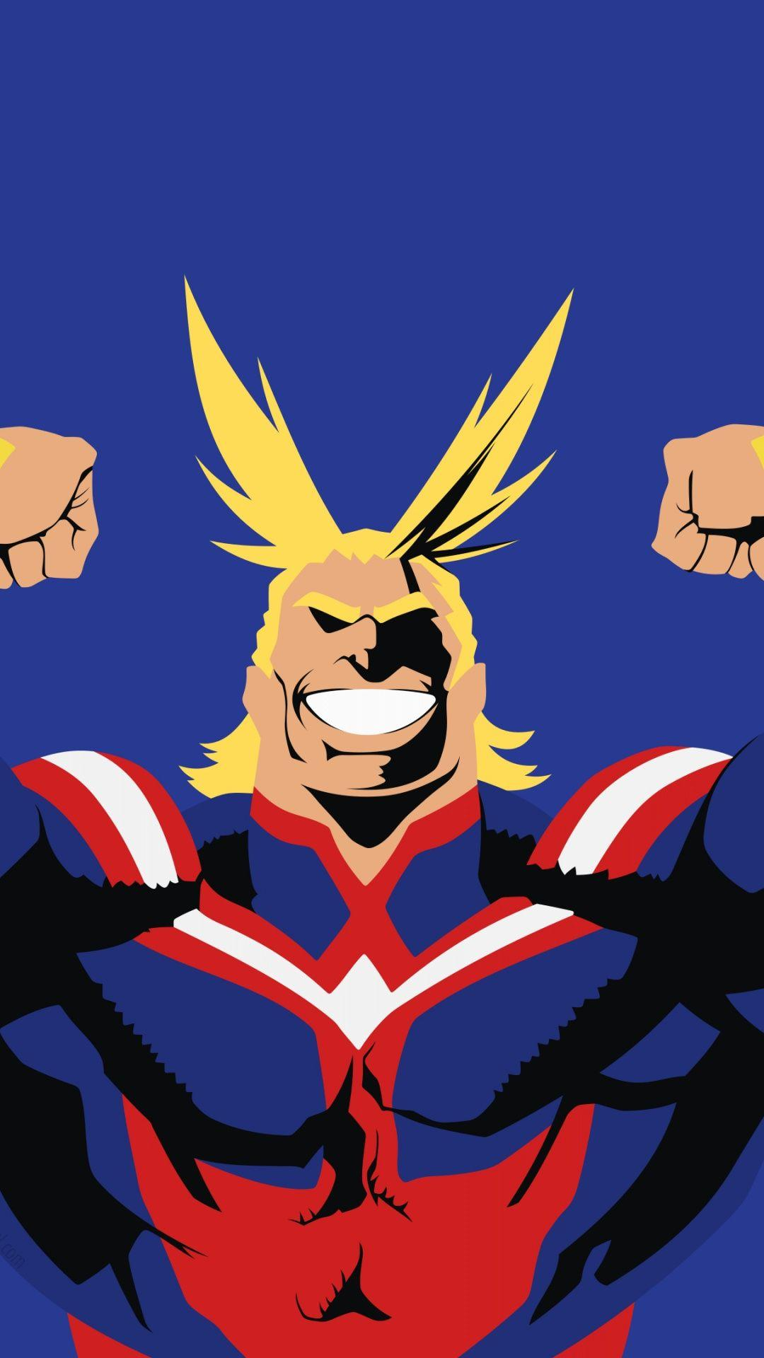 Anime boy, All Might, minimal, artwork wallpapers