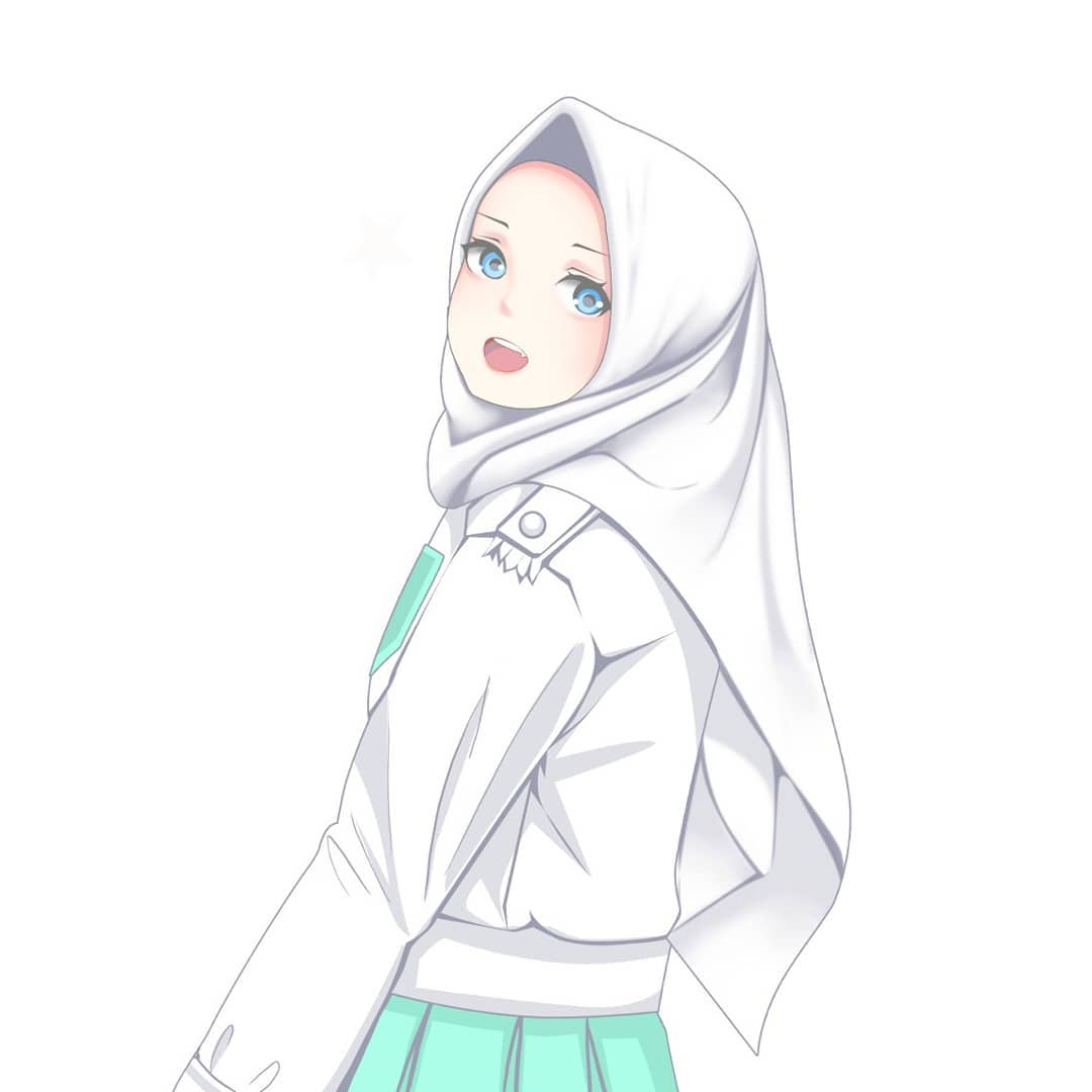Image Anime Hijab Cute