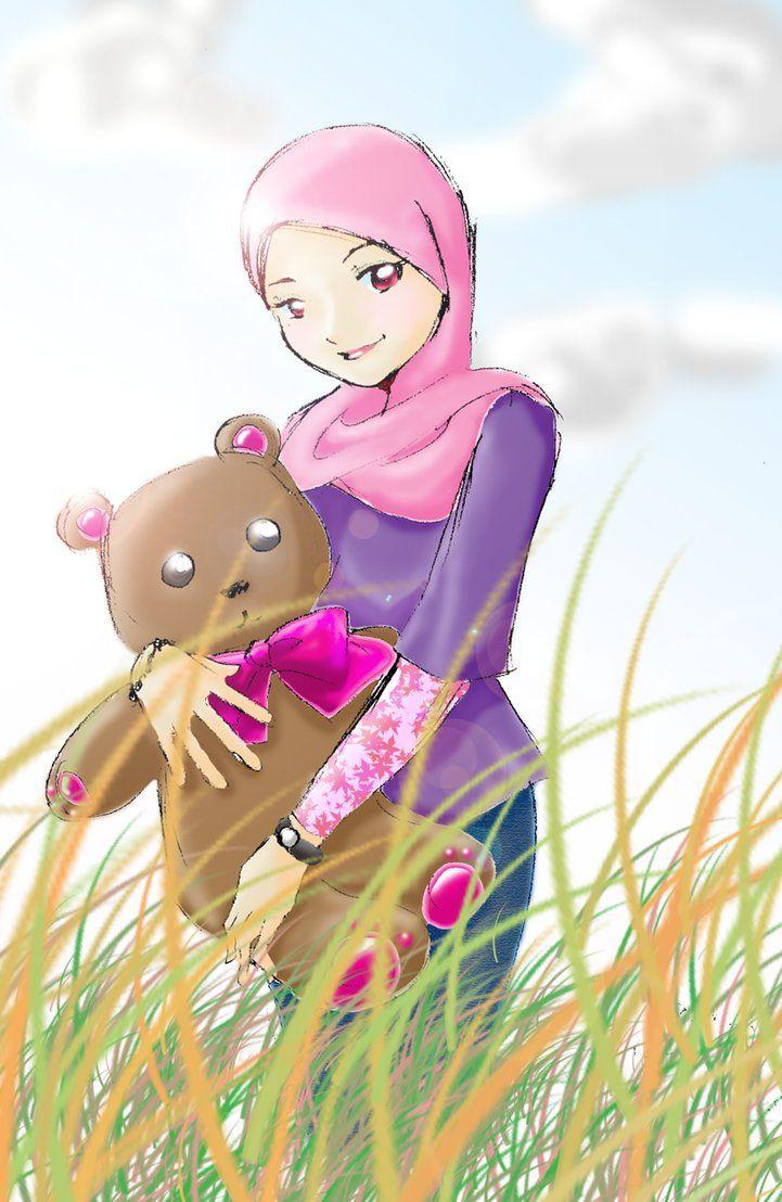 Gambar Wallpapers Kartun Hijab