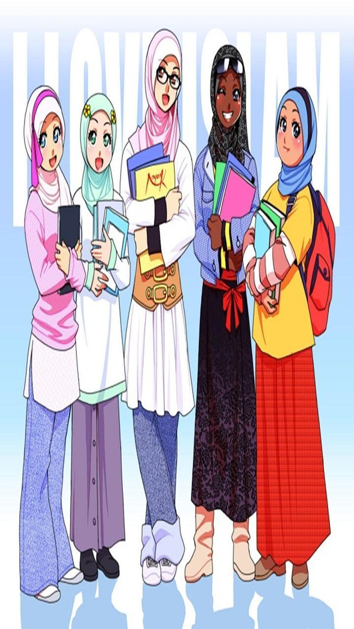 anime Hijab wallpapers for Android