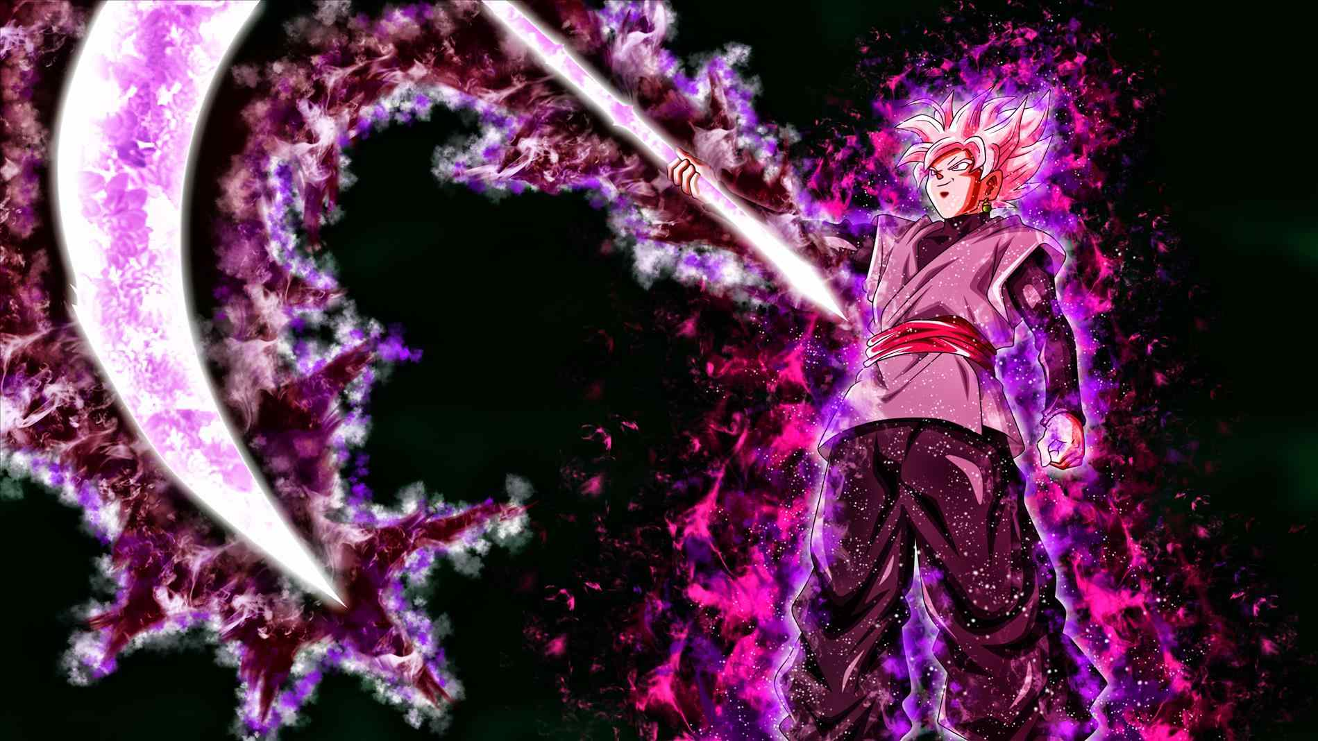 Goku Black Rose Desktop Wallpapers Wallpaper Cave