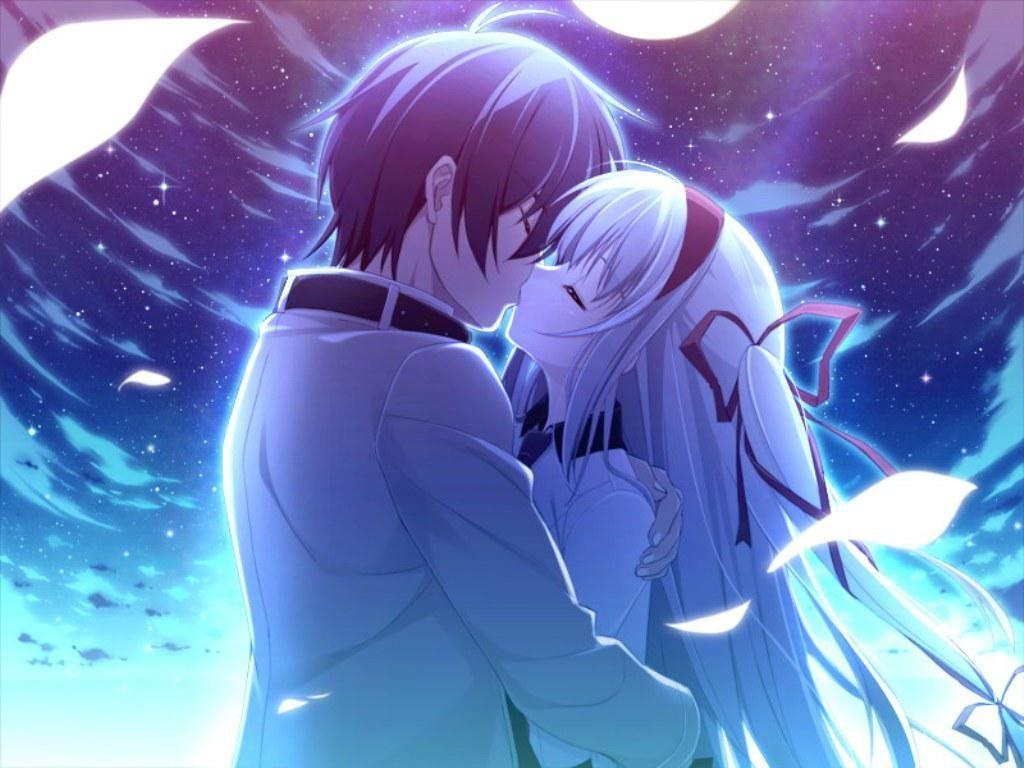 Anime Couples Kissing HD Wallpapers - Wallpaper Cave