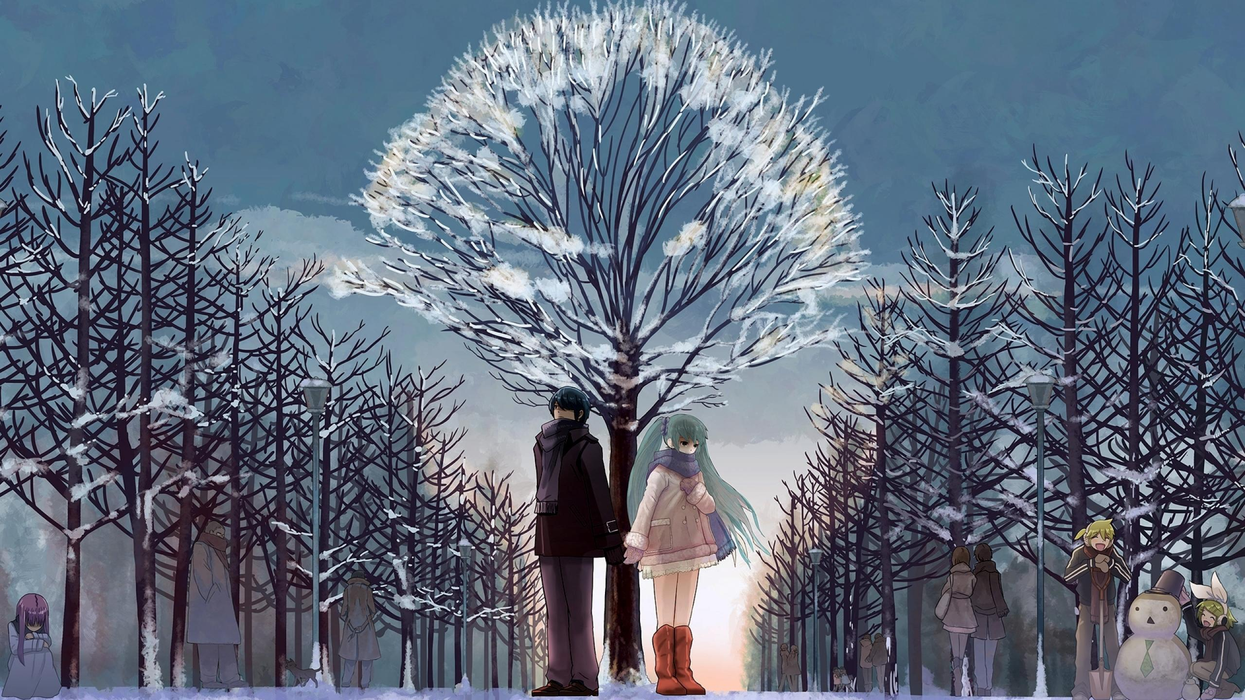 Snow Winter Anime Wallpapers Wallpaper Cave