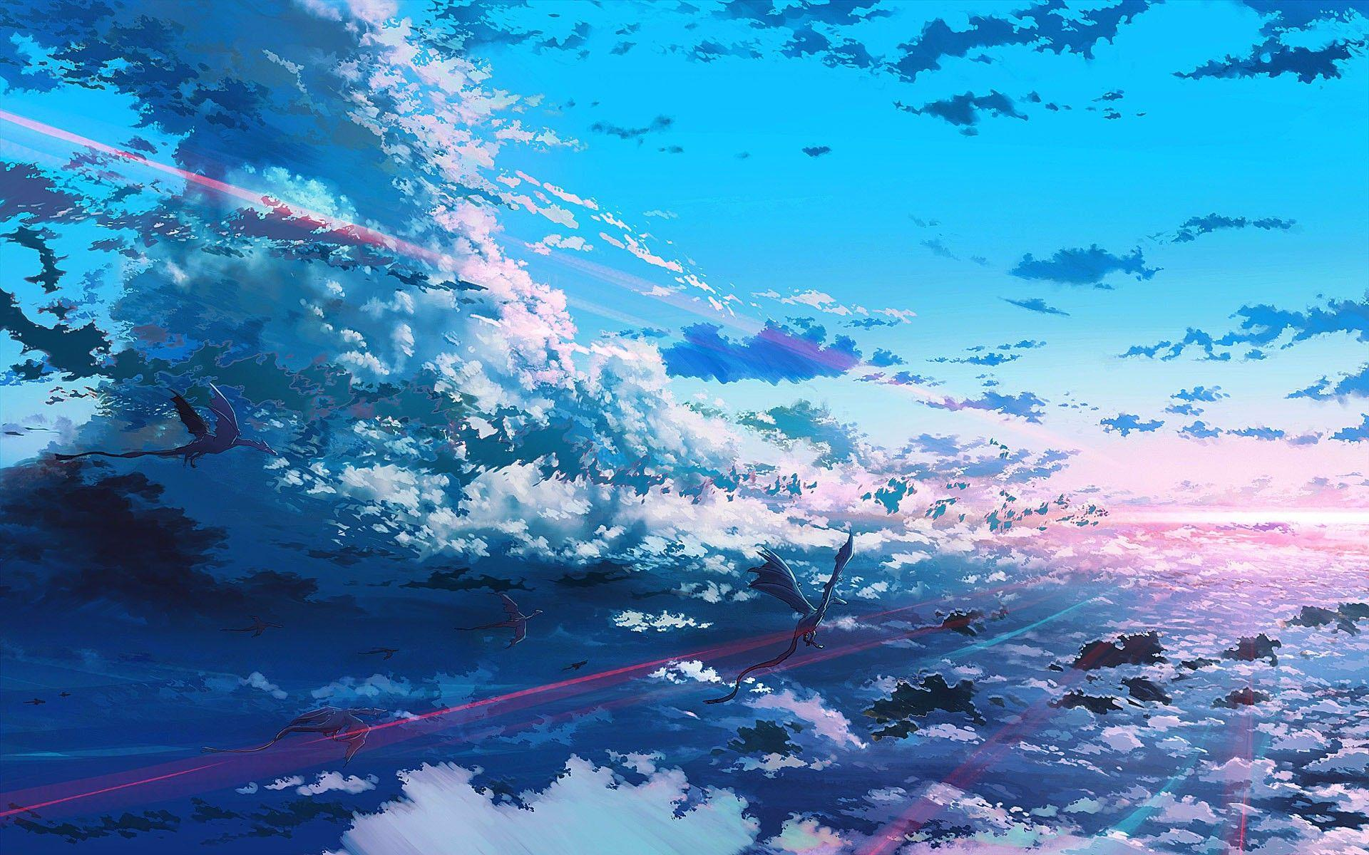 Ultra Hd Desktop Anime Sky Wallpapers Wallpaper Cave