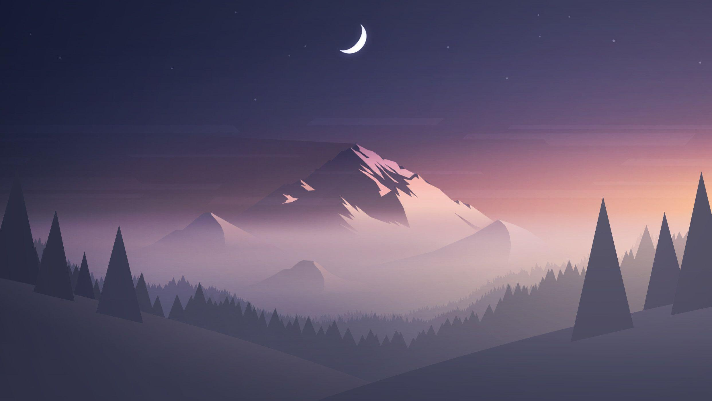 Minimalist Mountain Wallpapers   Wallpaper Cave