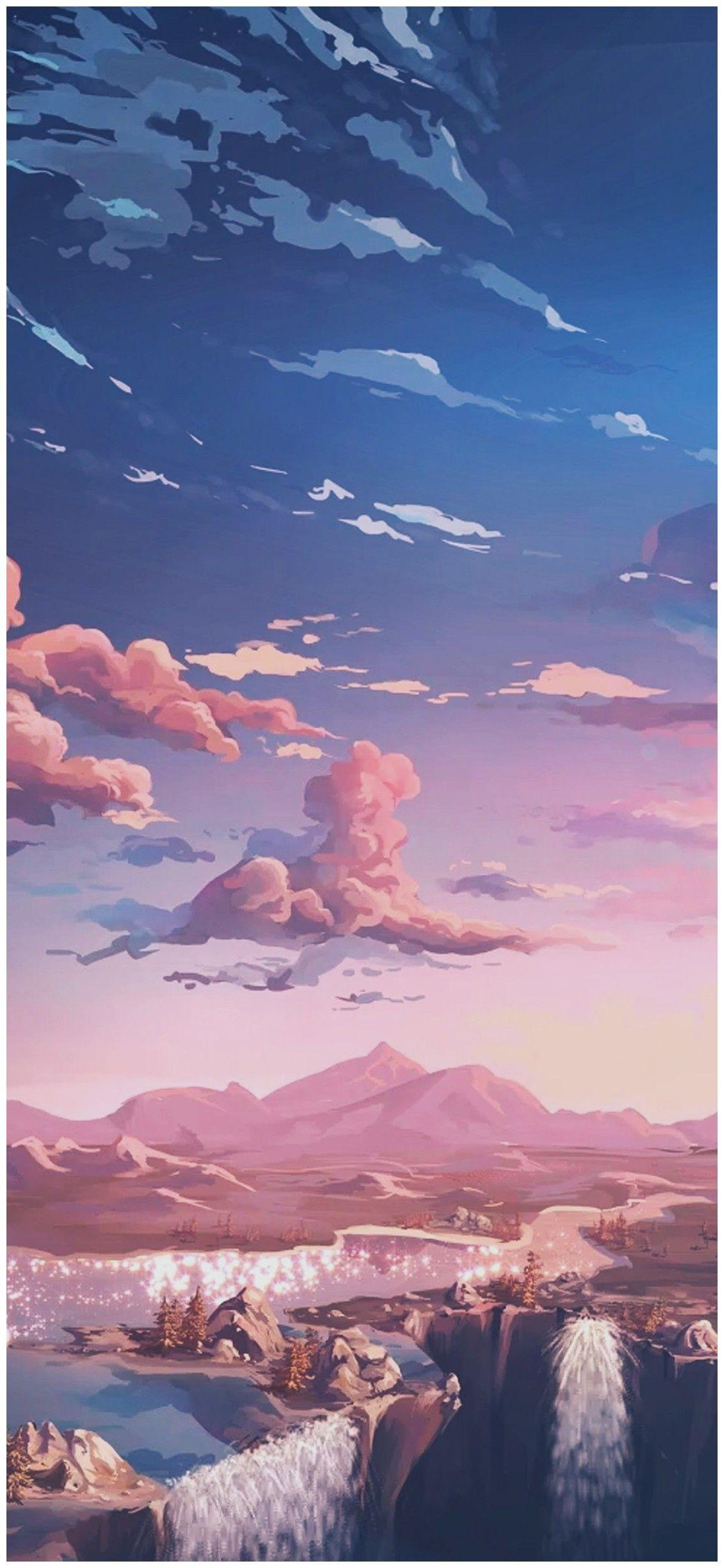 Aesthetic Anime Sky Wallpapers Wallpaper Cave