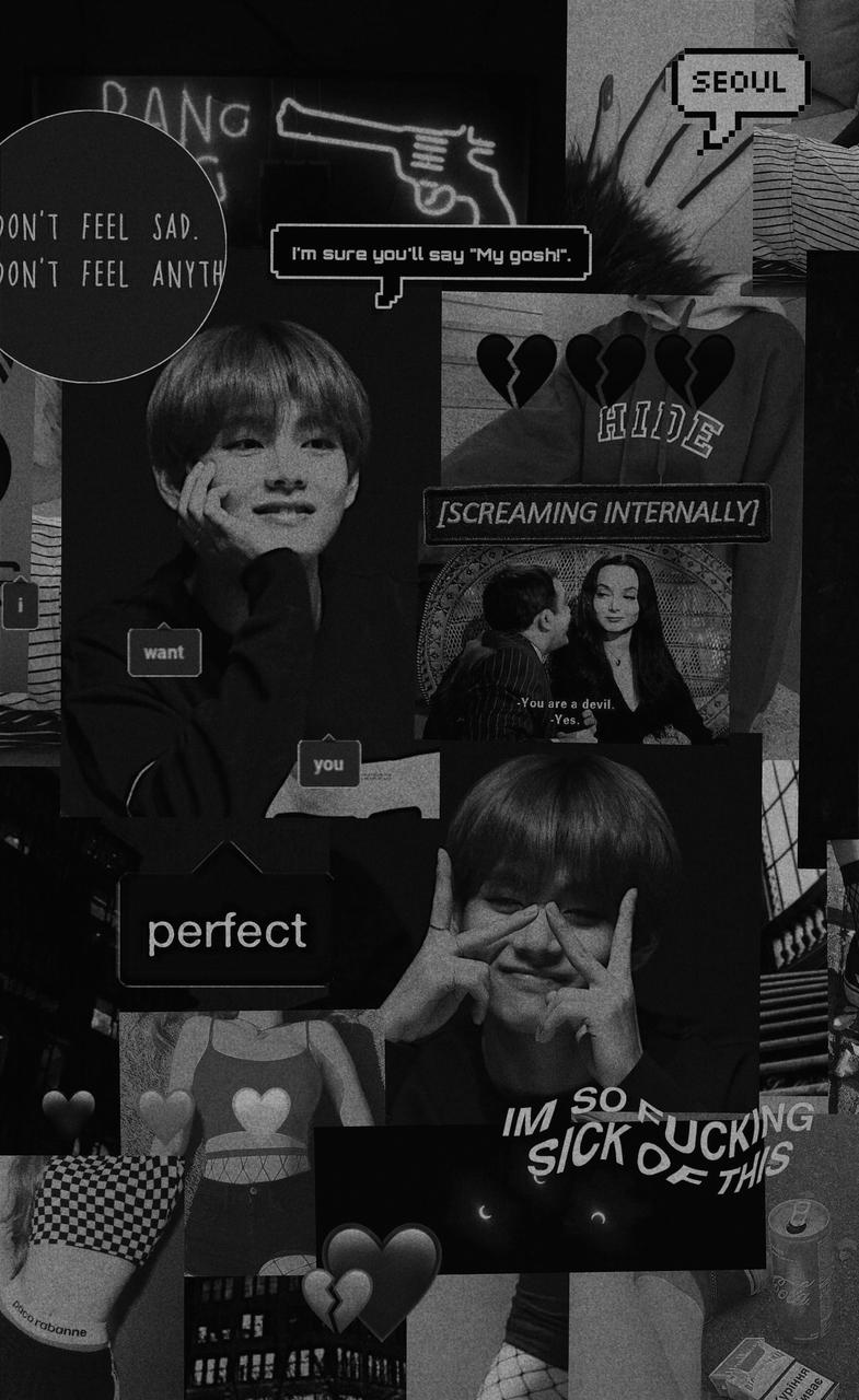 Taehyung Black And White Aesthetic Wallpapers Wallpaper Cave