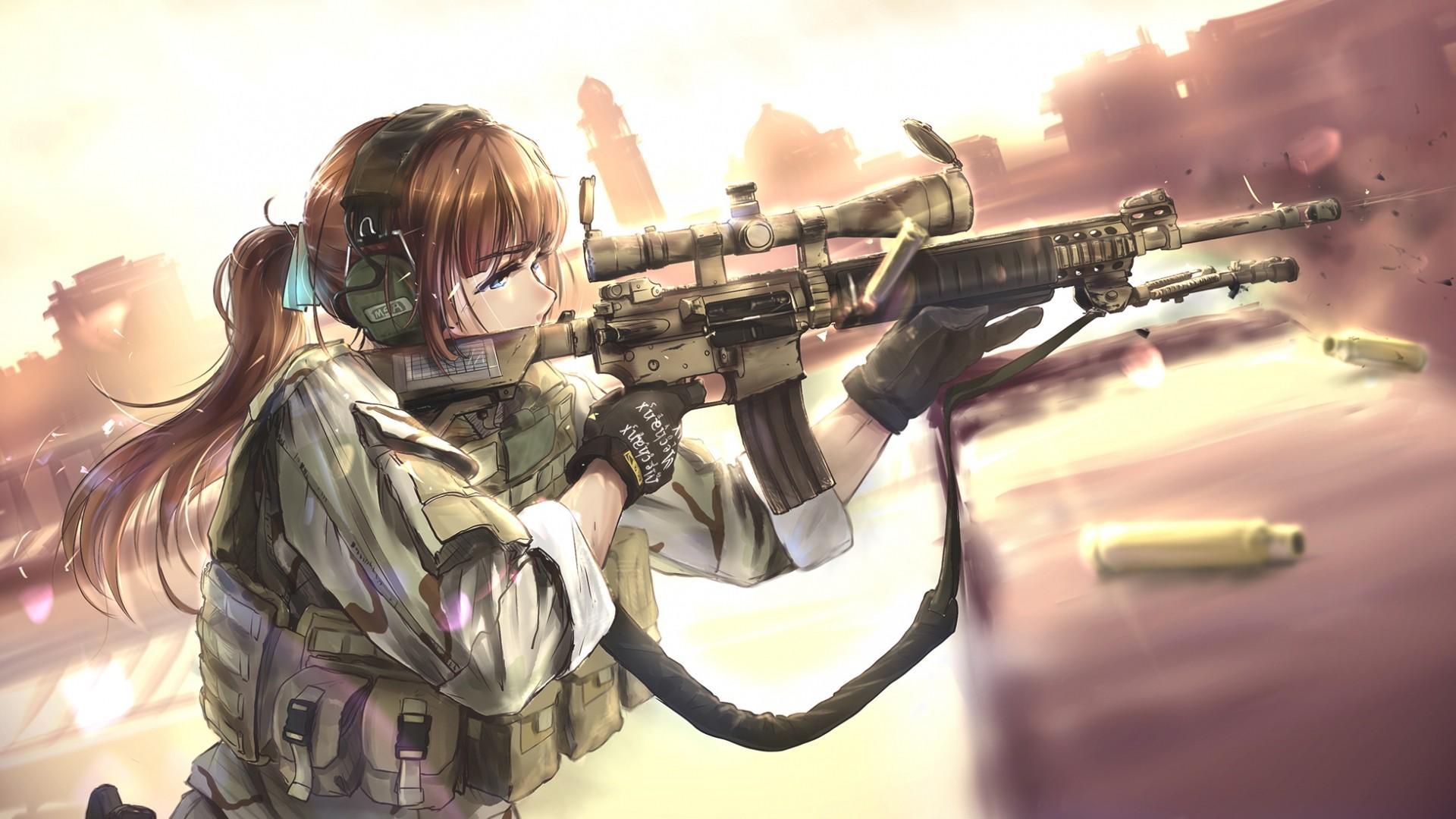 Sniper Anime Girl Wallpapers - Wallpaper Cave
