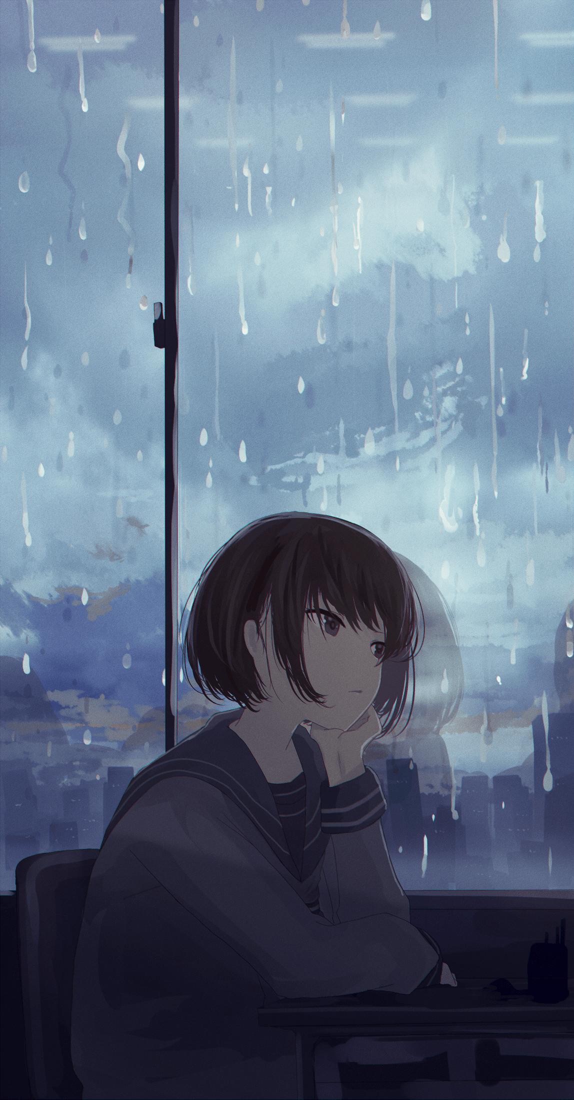 Sad Anime Rain Wallpapers - Wallpaper Cave
