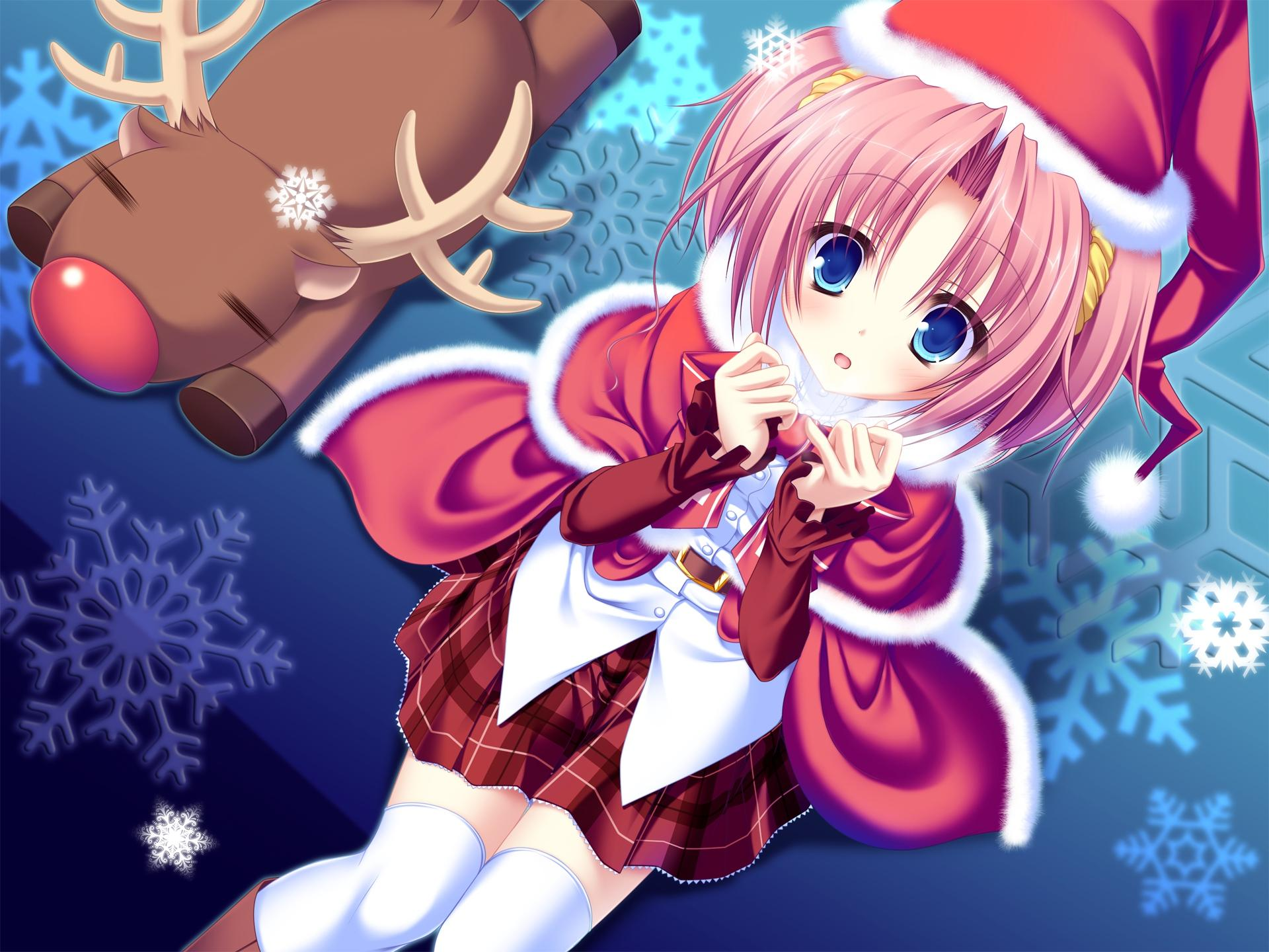 Anime Loli Natal Hd Wallpapers Wallpaper Cave