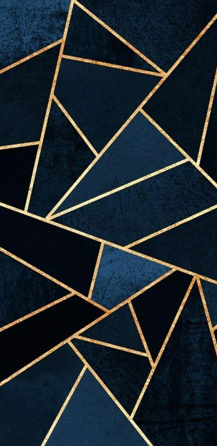 Dark Blue And Gold Aesthetic Wallpapers Wallpaper Cave