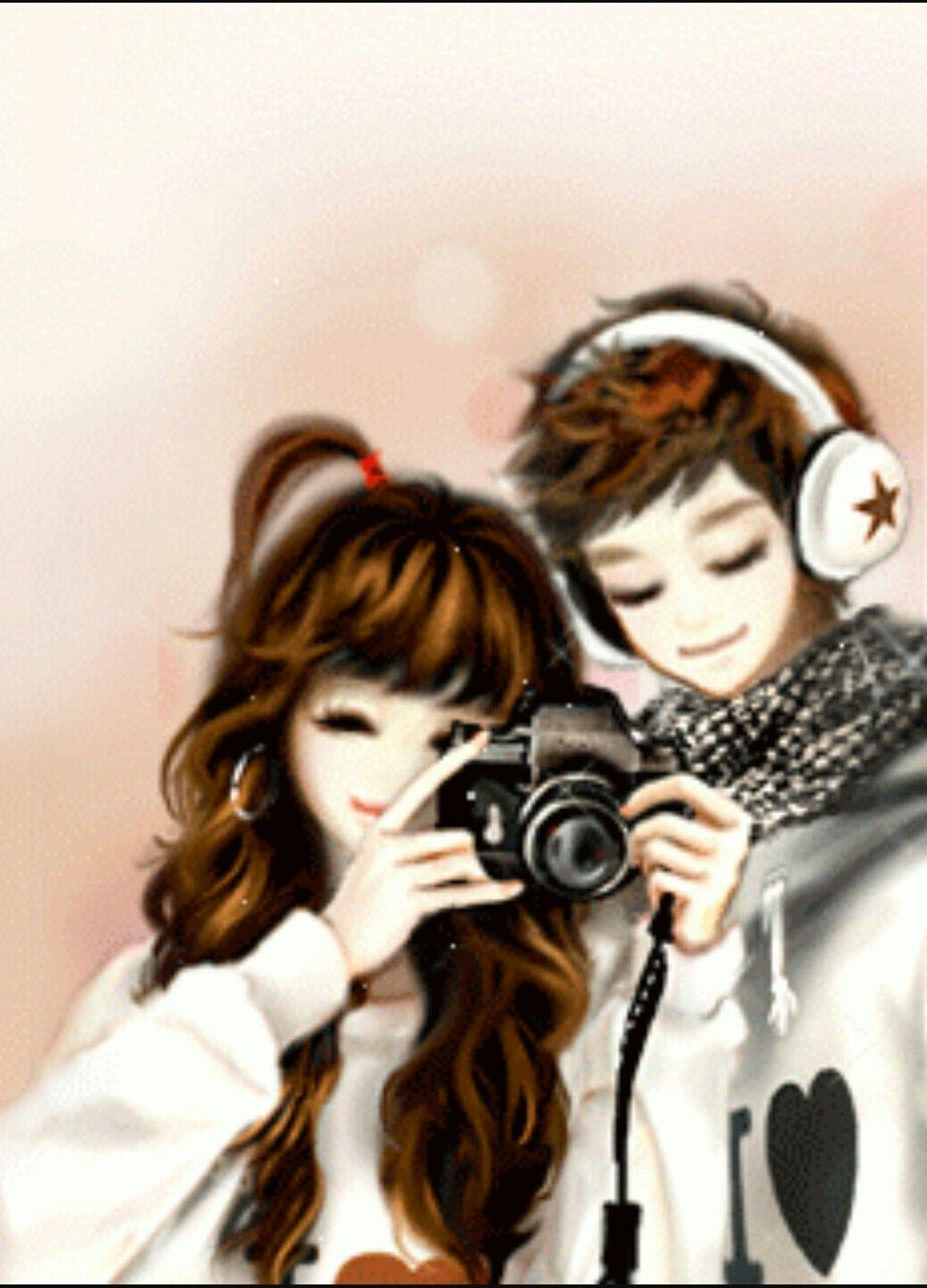Korean Hd Anime Couple Love Music Wallpapers Wallpaper Cave