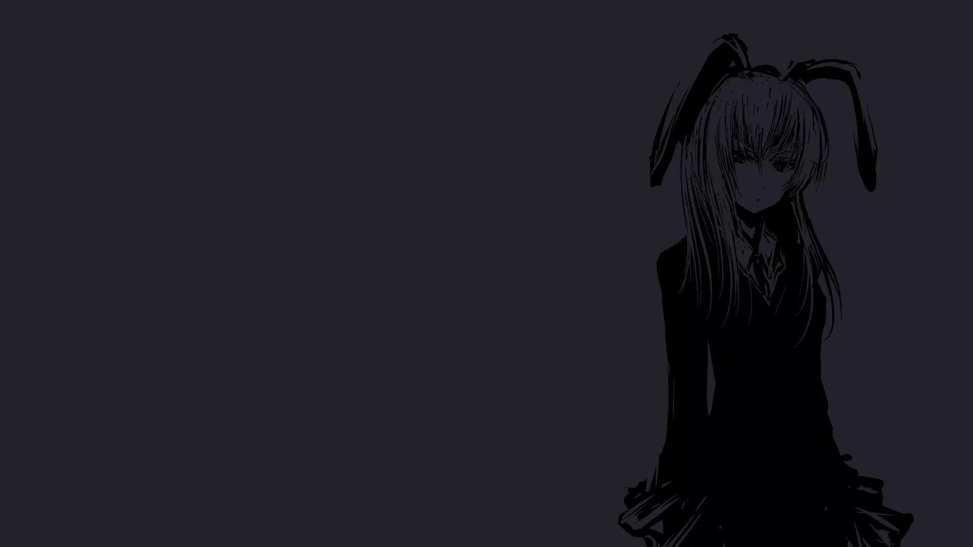 Anime PC Black HD Wallpapers - Wallpaper Cave