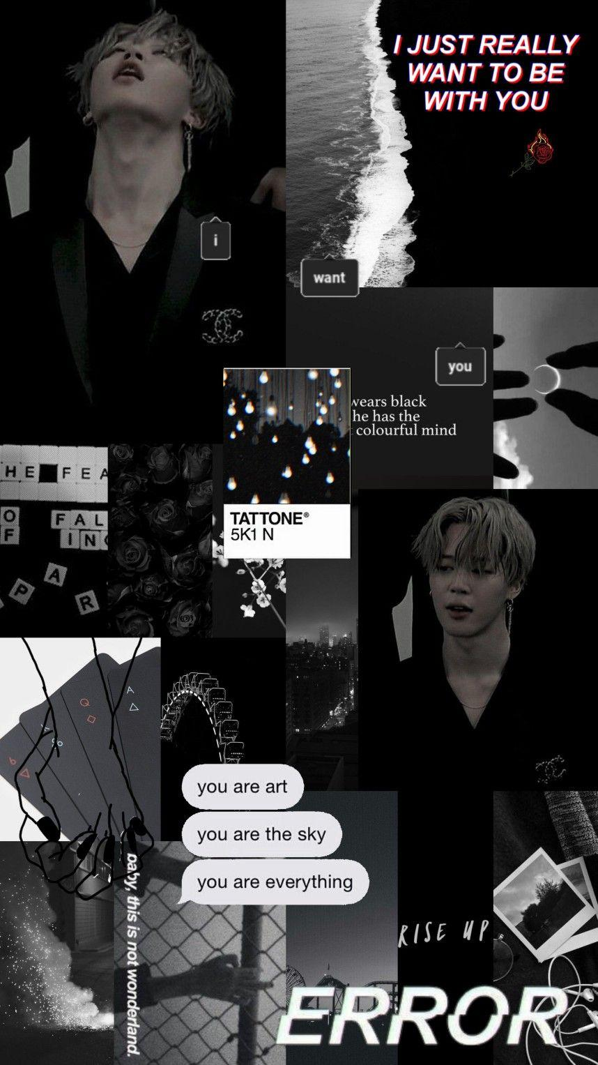 Aesthetic Jimin Black Wallpapers Wallpaper Cave
