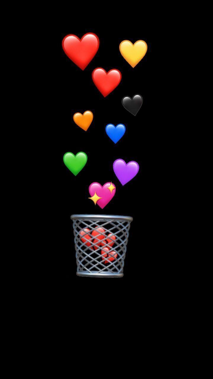 Get Black Heart Wallpaper Aesthetic Background