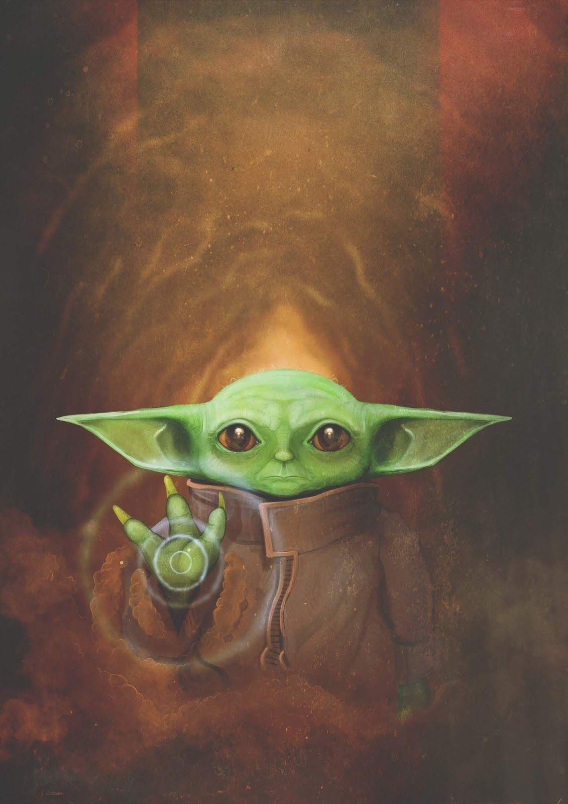 Cute Baby Yoda Wallpapers Wallpaper Cave