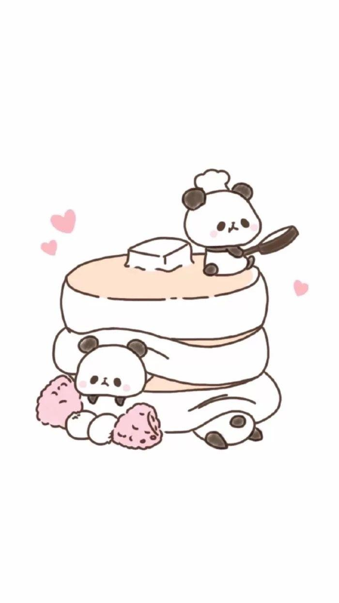 Kawaii Cute Anime Panda Wallpapers Wallpaper Cave