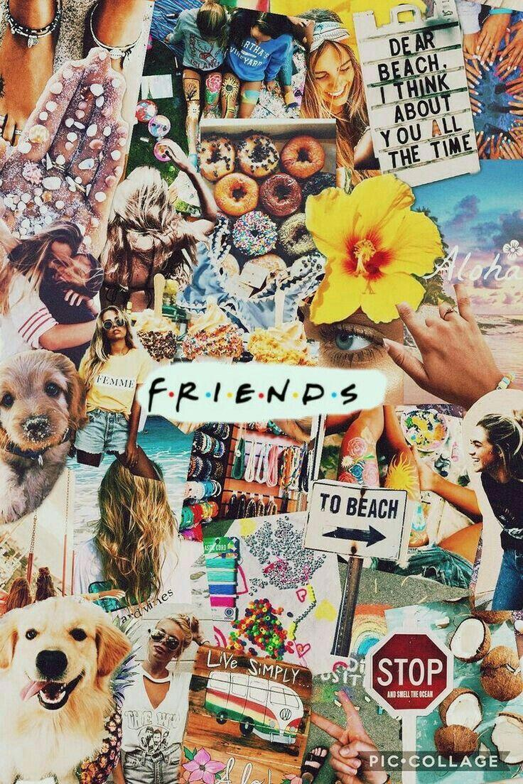 Friends Hd Iphone Collage Wallpapers Wallpaper Cave