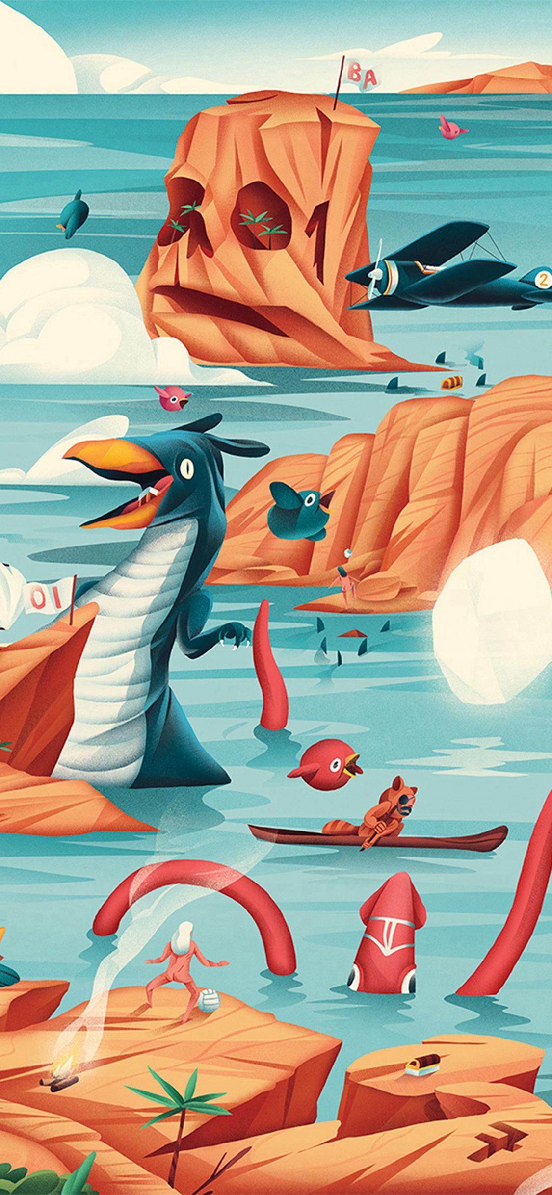 Iphone 11 Cartoons Wallpapers Wallpaper Cave