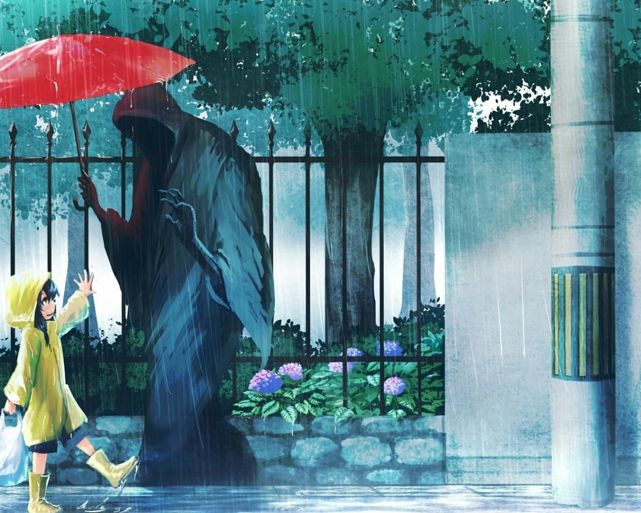 19+ Anime Rainy Wallpaper Download - Baka Wallpaper