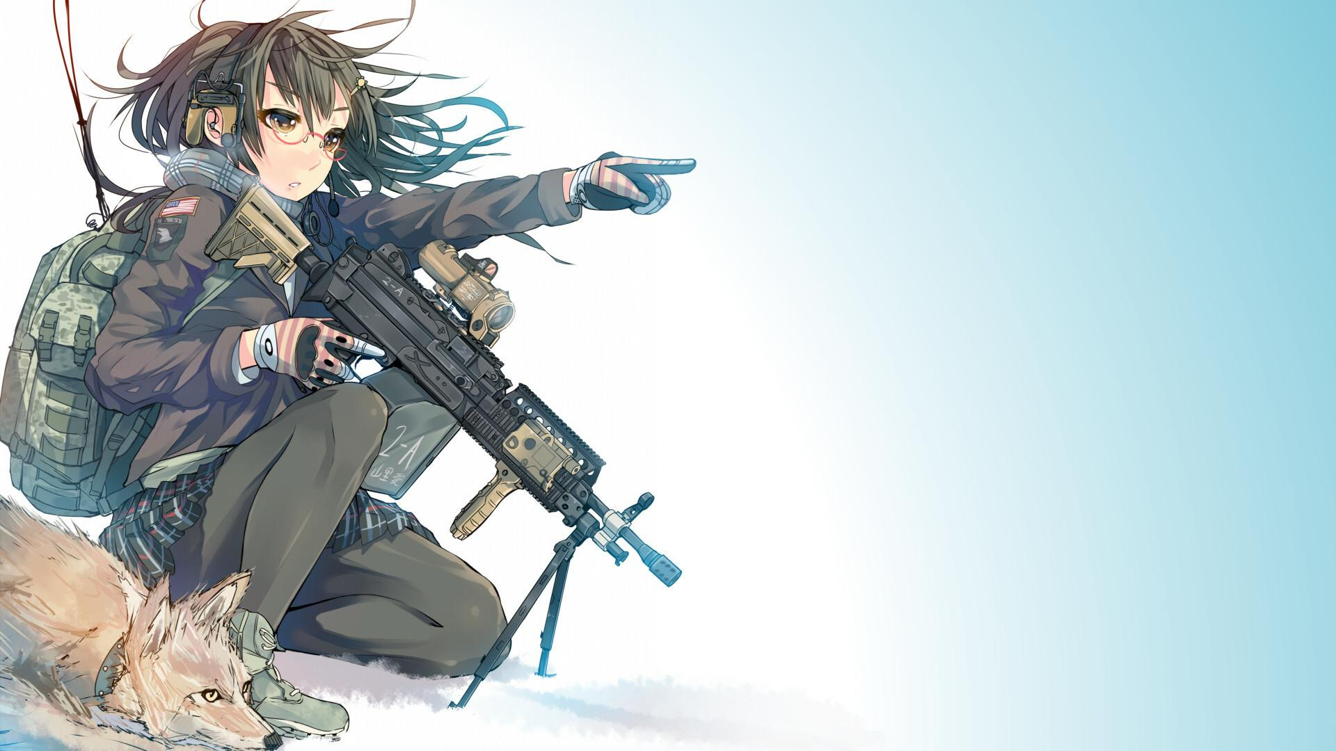 Anime With Guns Wallpapers Wallpaper Cave