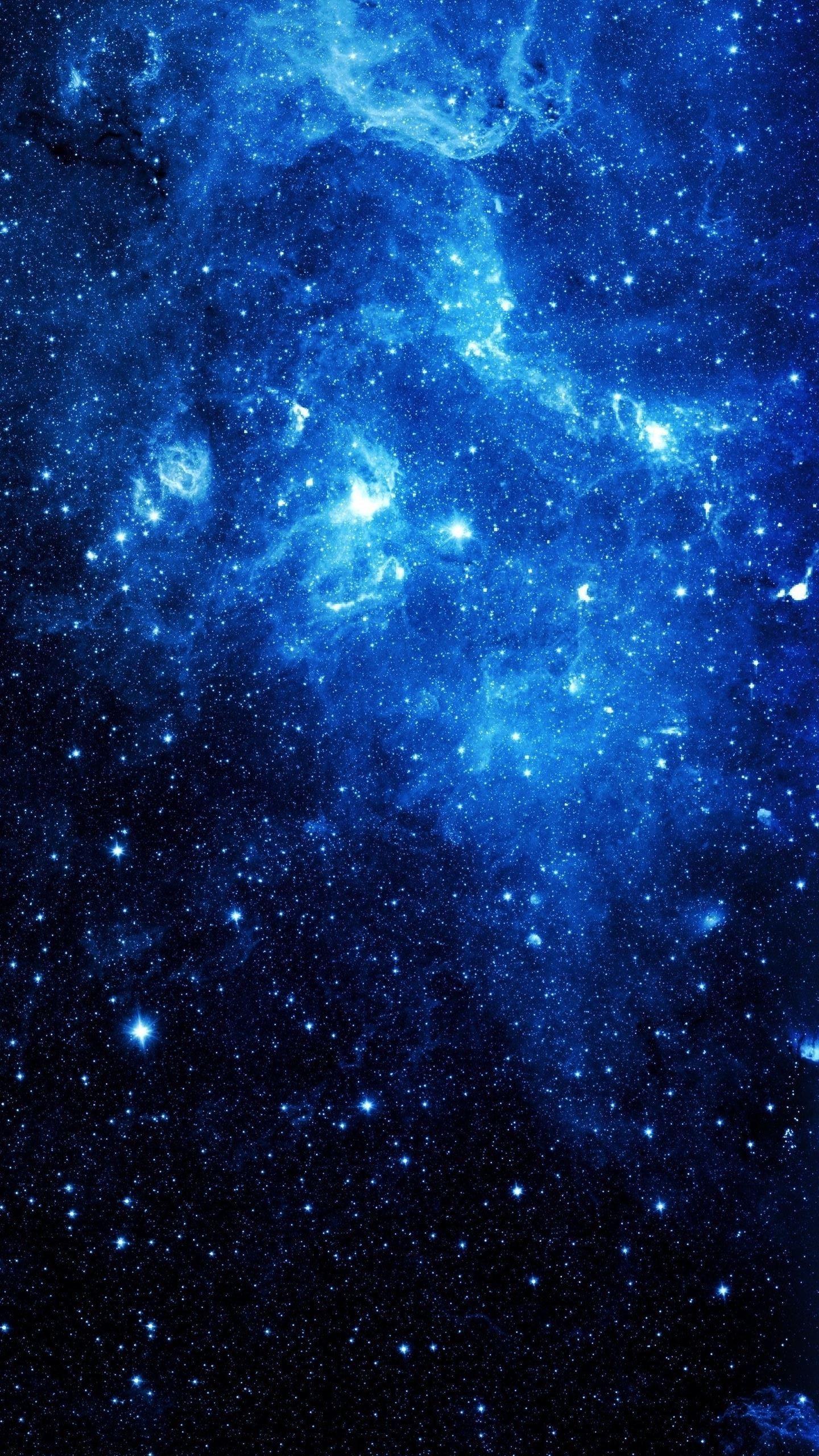 galaxy aesthetics blue wallpapers