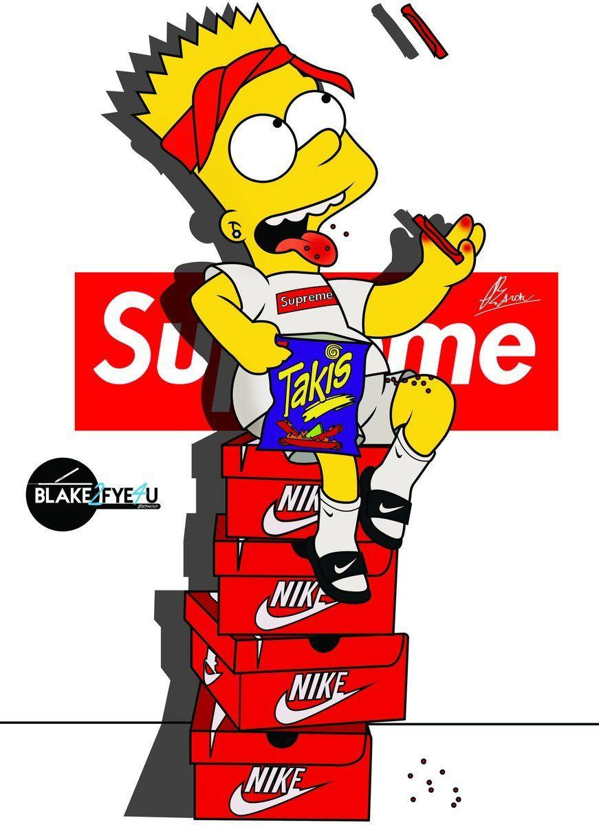 Cool Supreme Bart Simpson Wallpapers - Wallpaper Cave