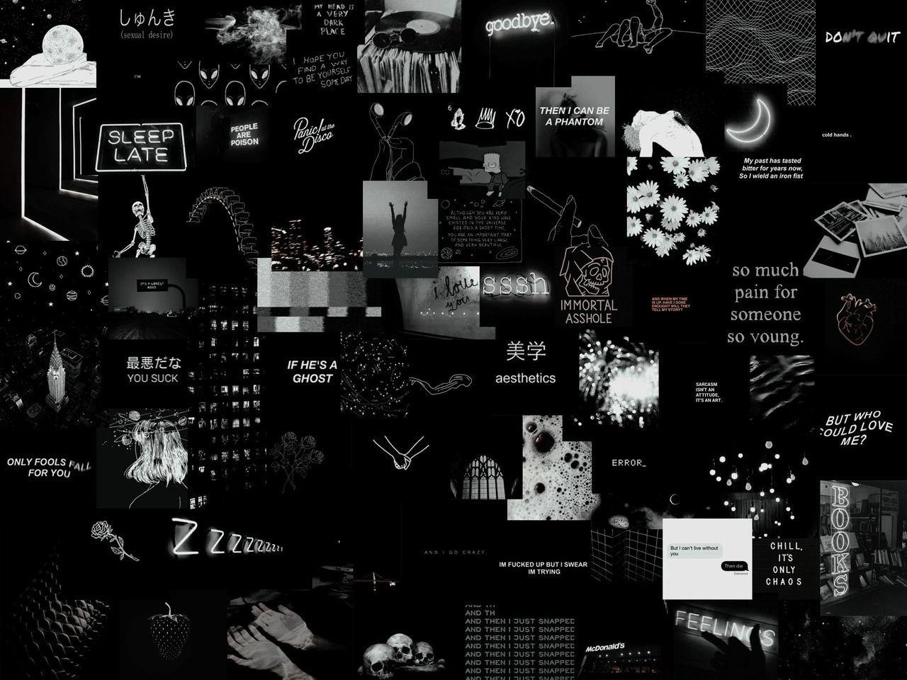 Black Collage Laptop Wallpapers Wallpaper Cave