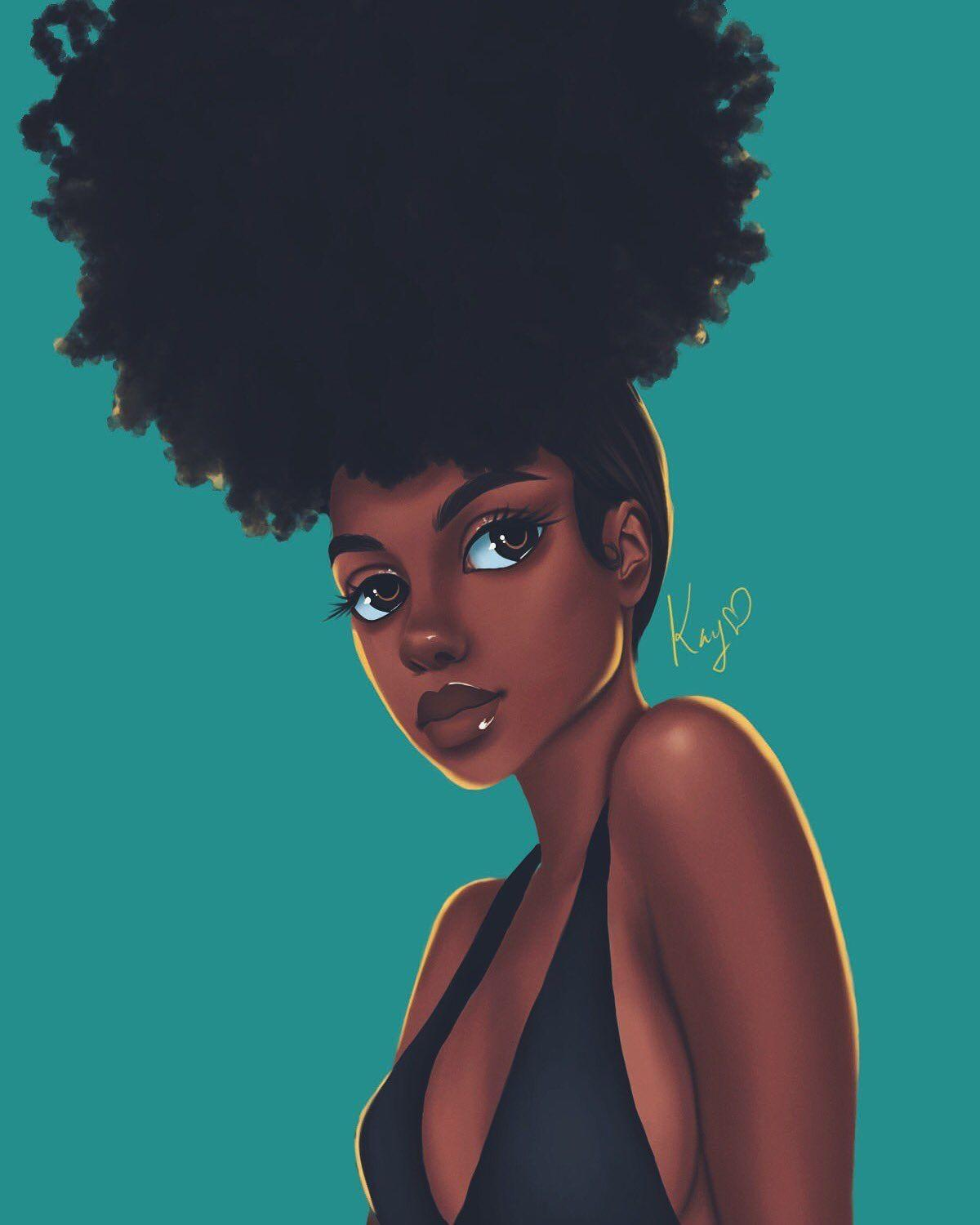 Cute Afro Girl Anime Wallpapers Wallpaper Cave