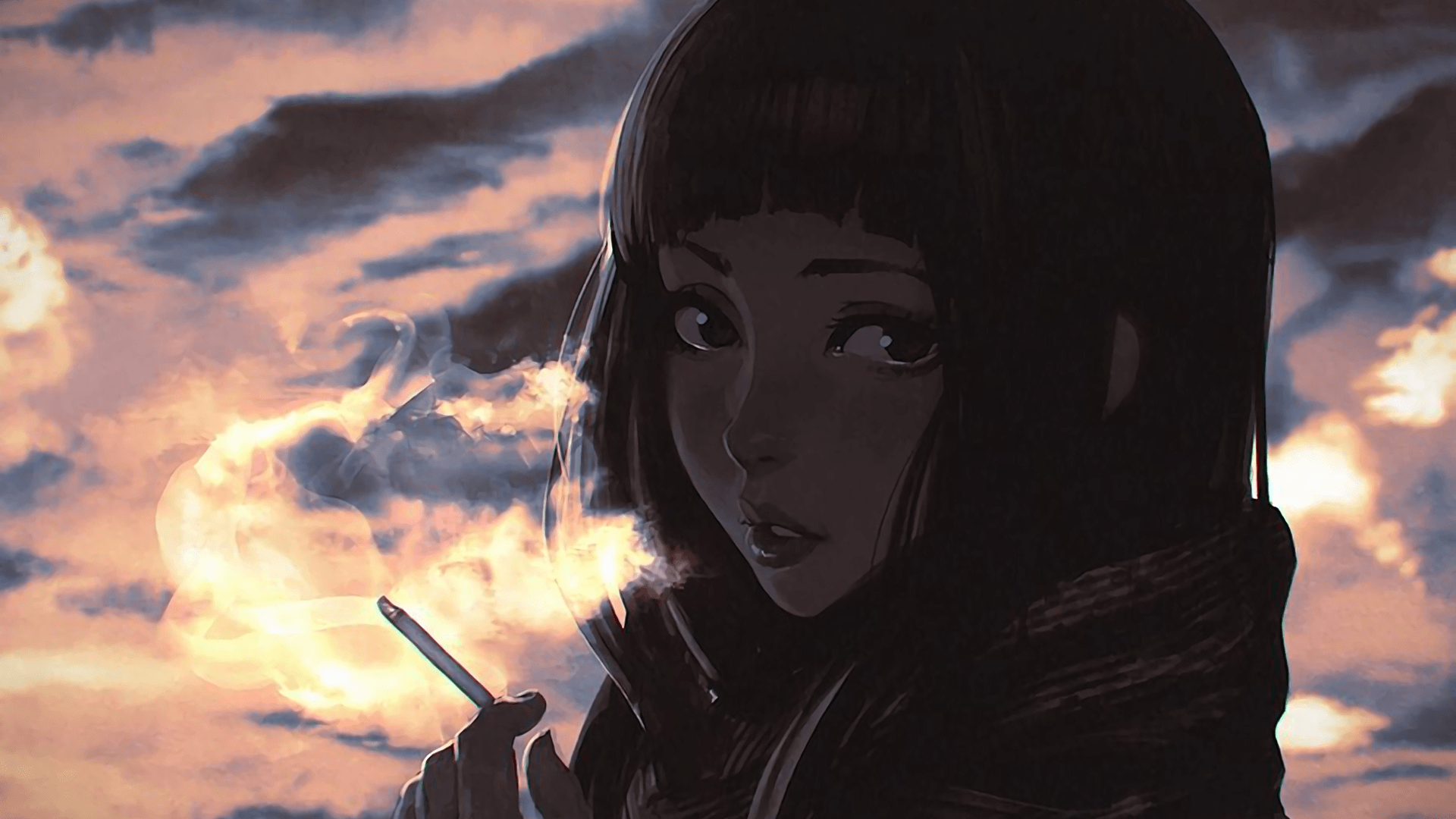 Girls Smoking Anime Wallpapers Wallpaper Cave