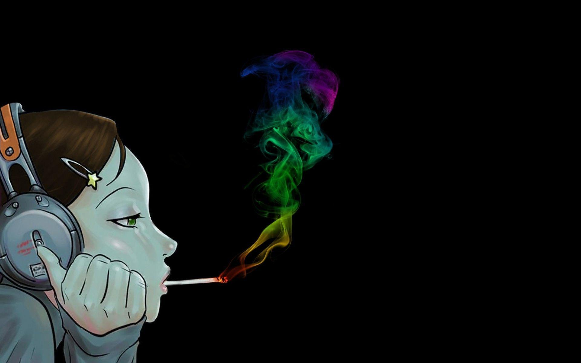 Anime Smoking Weed Wallpapers Wallpaper Cave