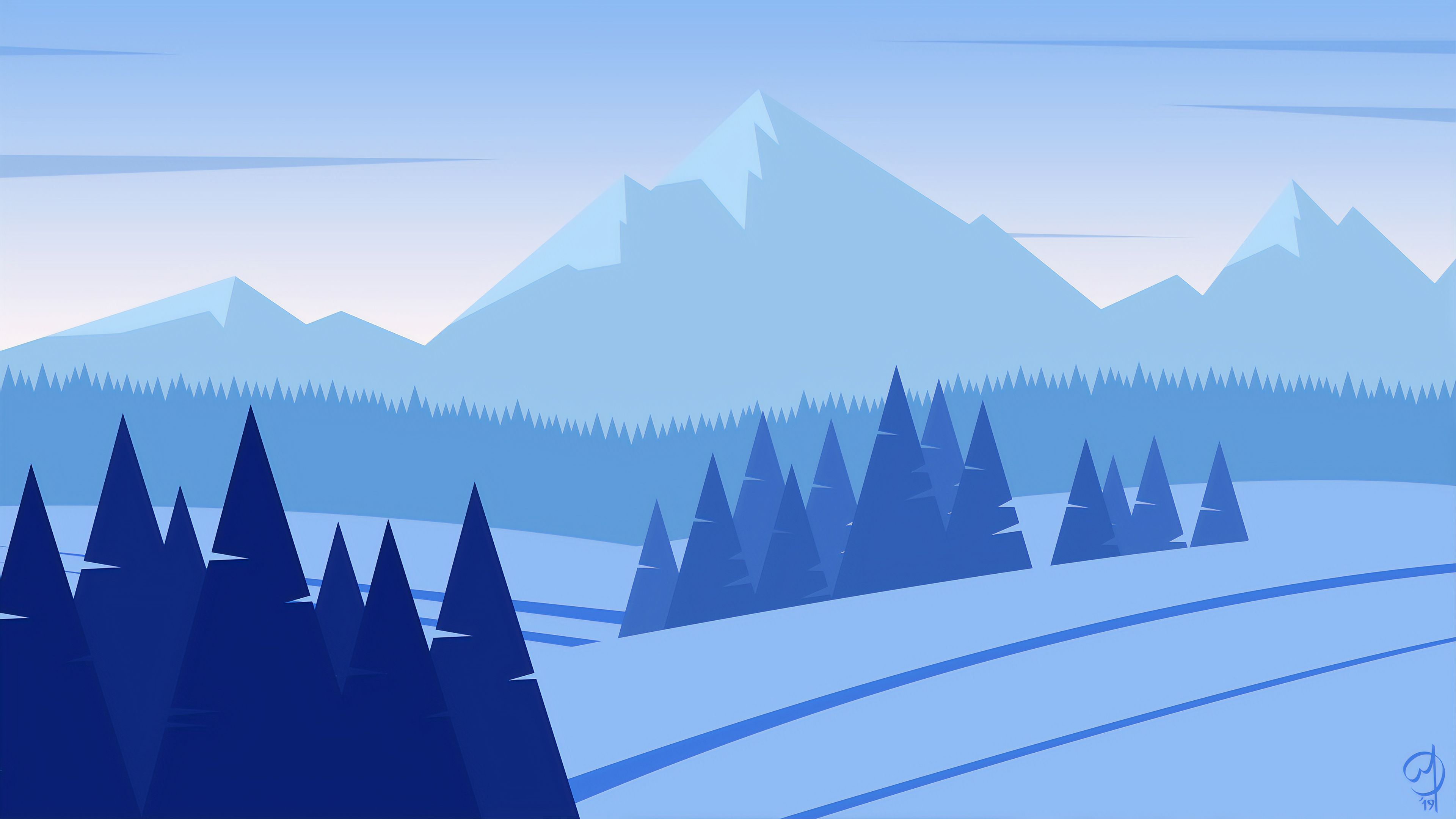 Snow Minimalist Wallpapers - Wallpaper Cave