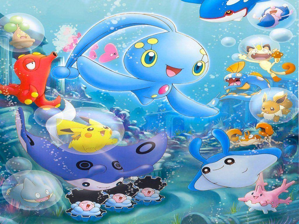 water pokemon club image Manaphy and Friends HD wallpapers and