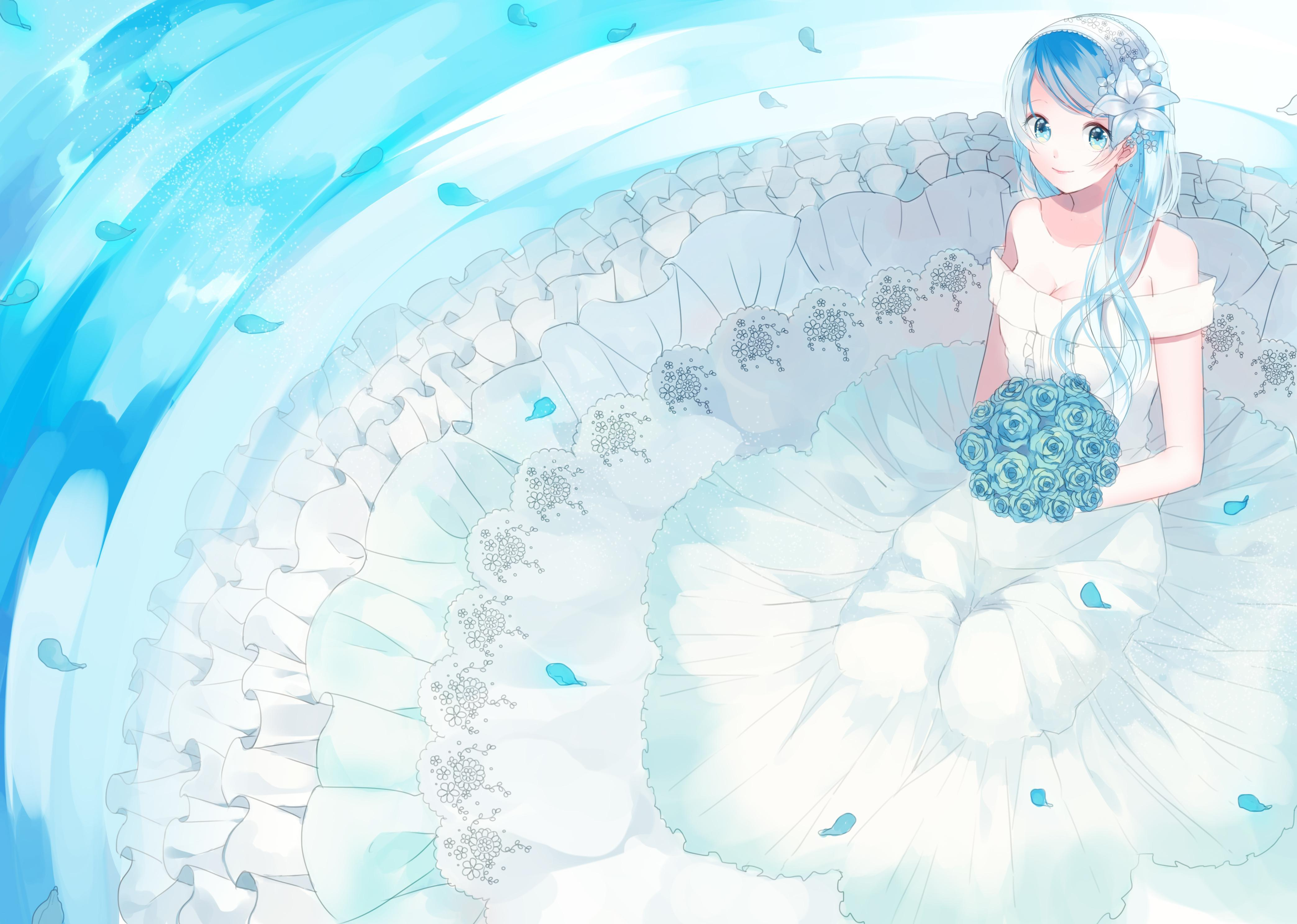 Anime Girl Wedding Wallpapers Wallpaper Cave