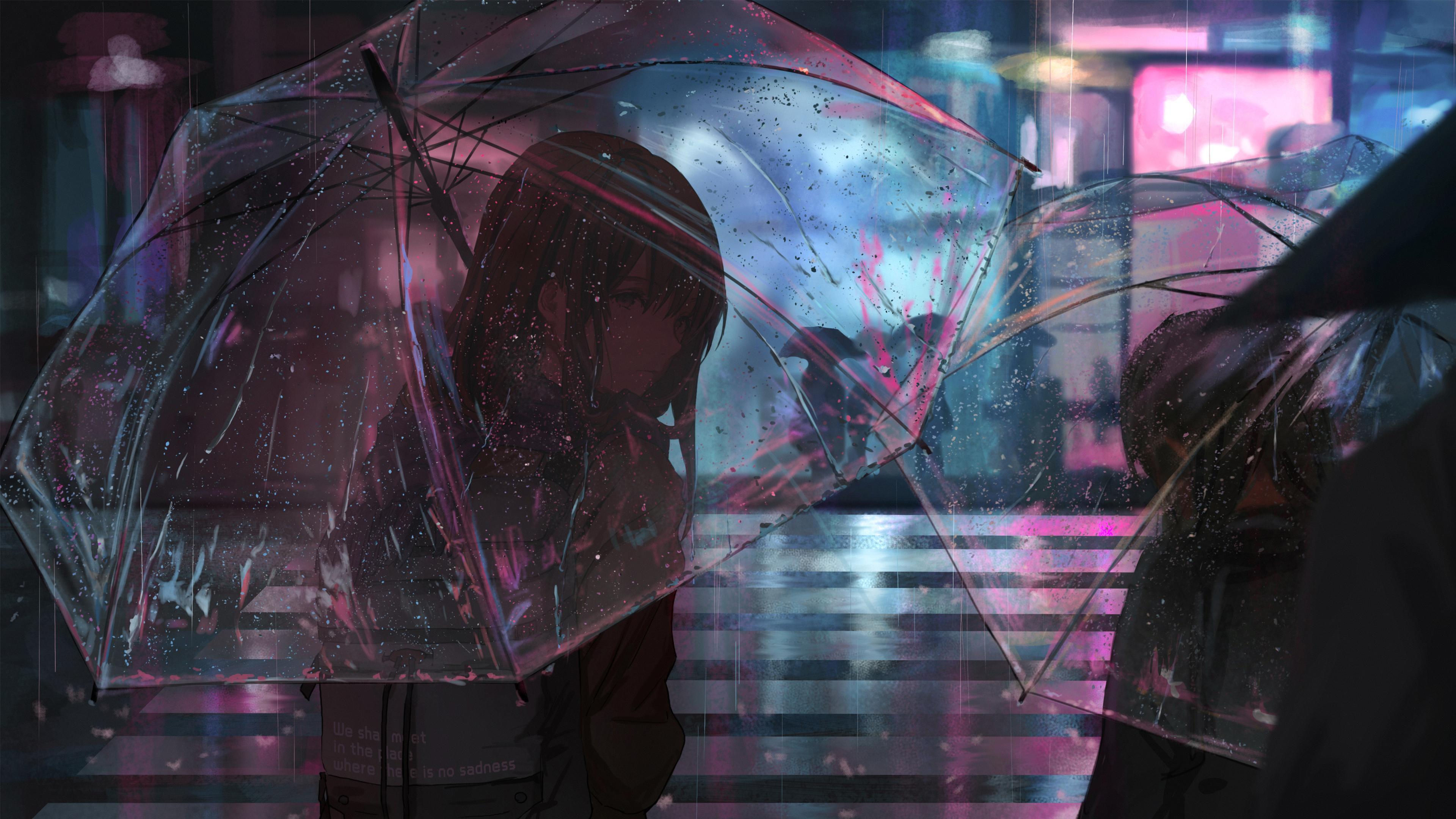 Rain Anime Wallpapers Wallpaper Cave