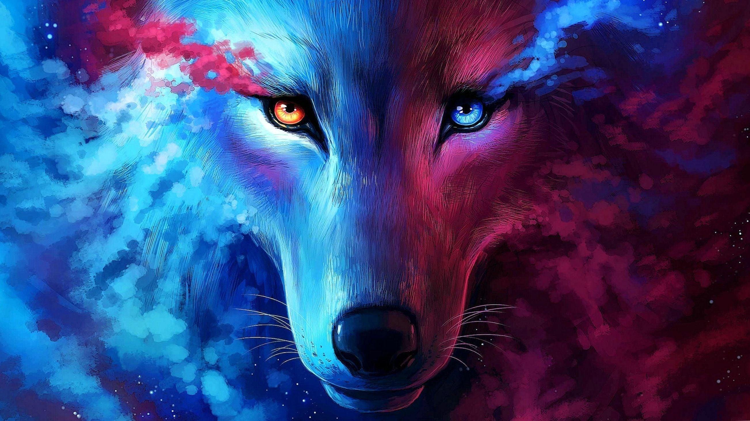 Galaxy Wolf Desktop Wallpapers Wallpaper Cave