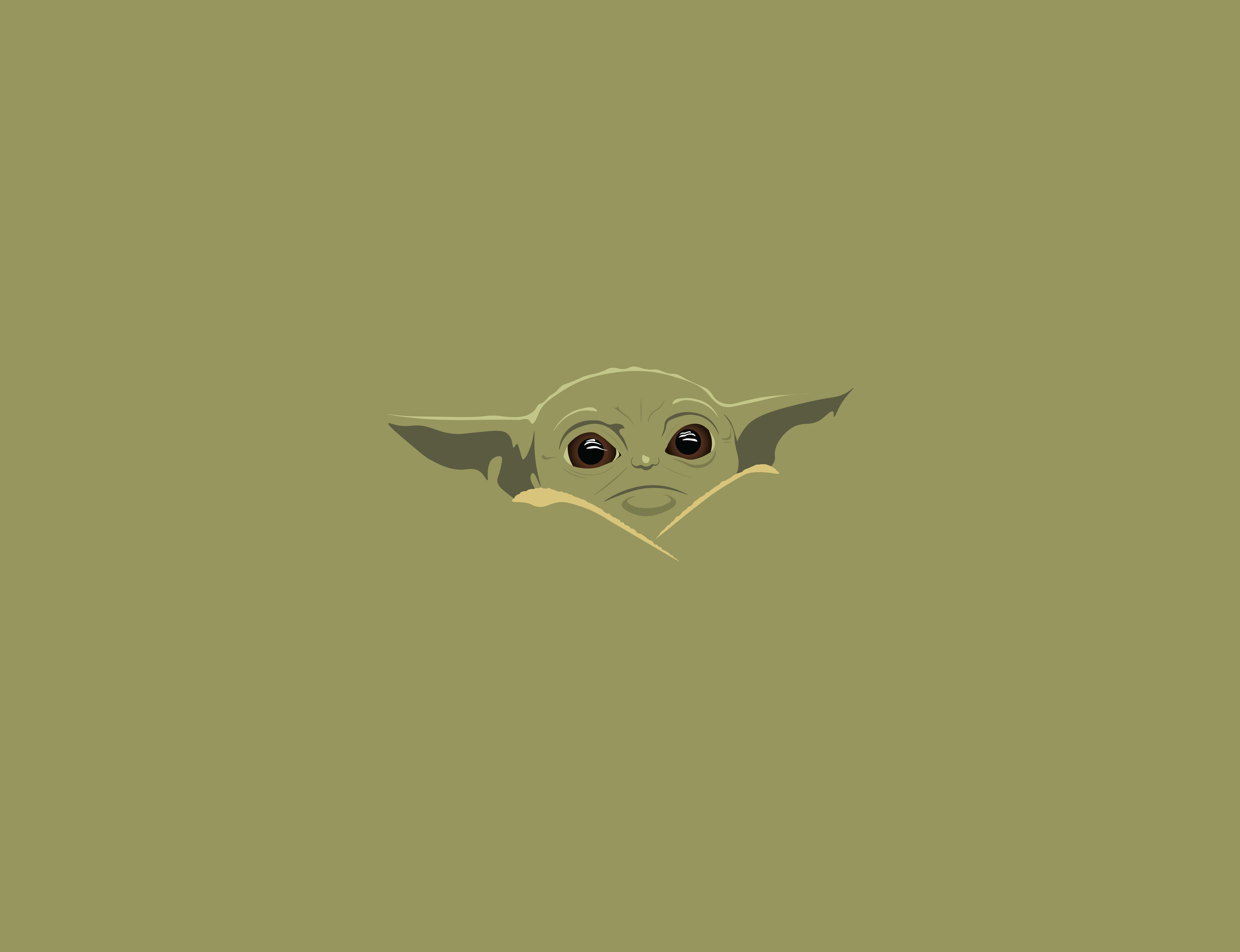 Baby Yoda Minimal Wallpapers Wallpaper Cave