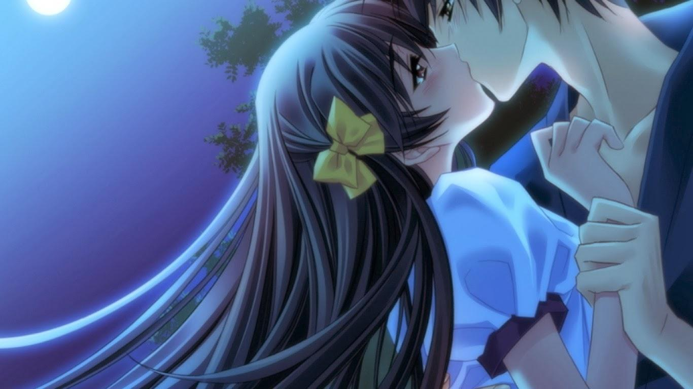 Boy And Girl Anime Kissing Wallpapers - Wallpaper Cave
