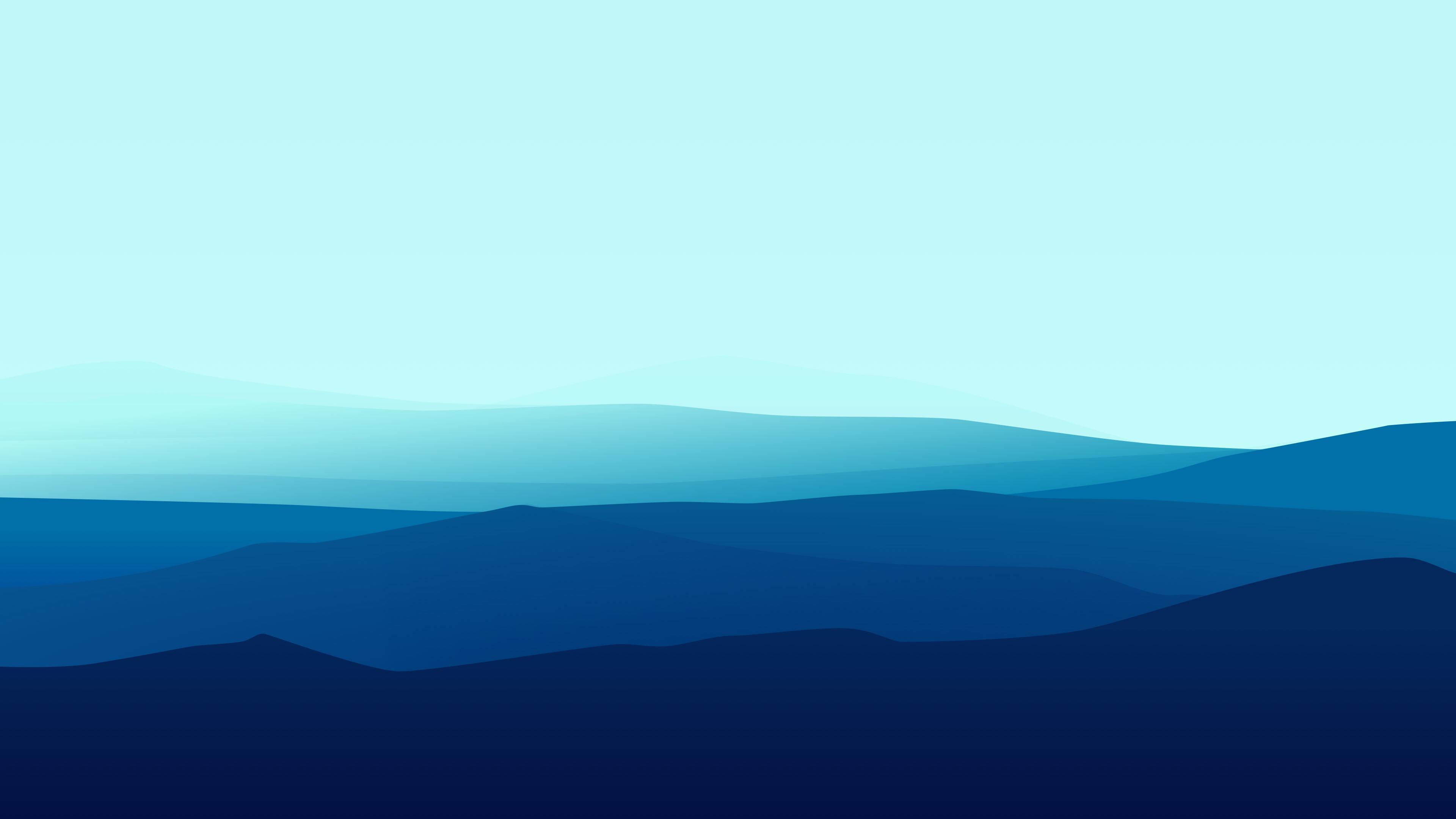 Blue Minimalist Wallpapers Wallpaper Cave