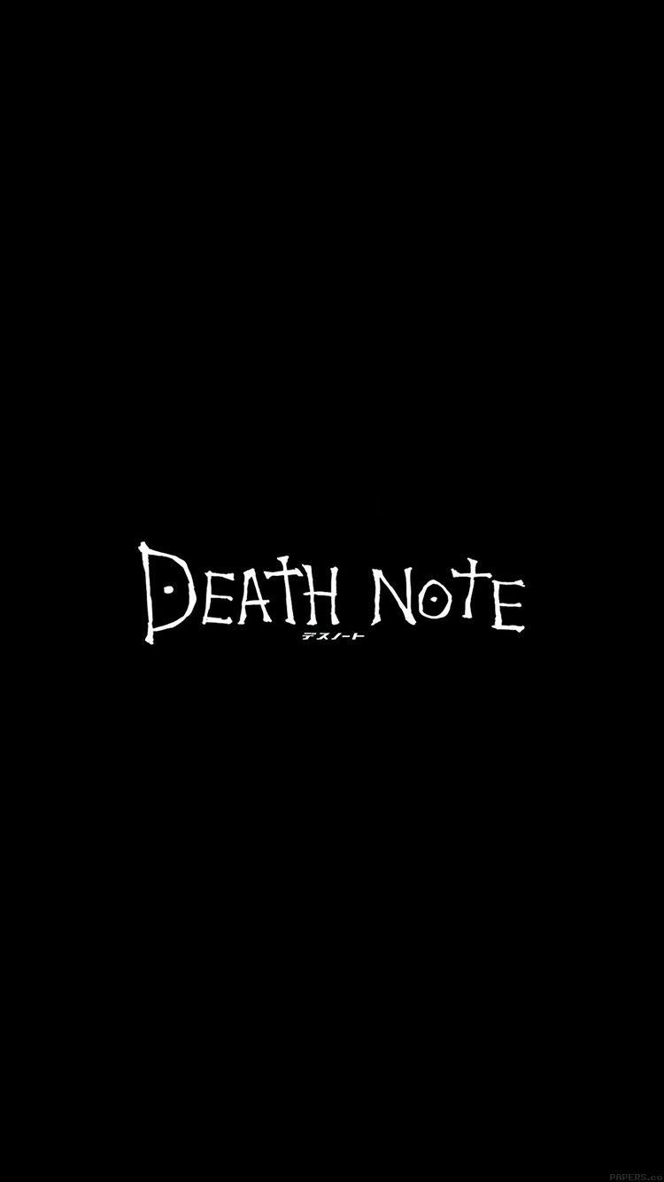 Death Note Iphone X Wallpapers Wallpaper Cave