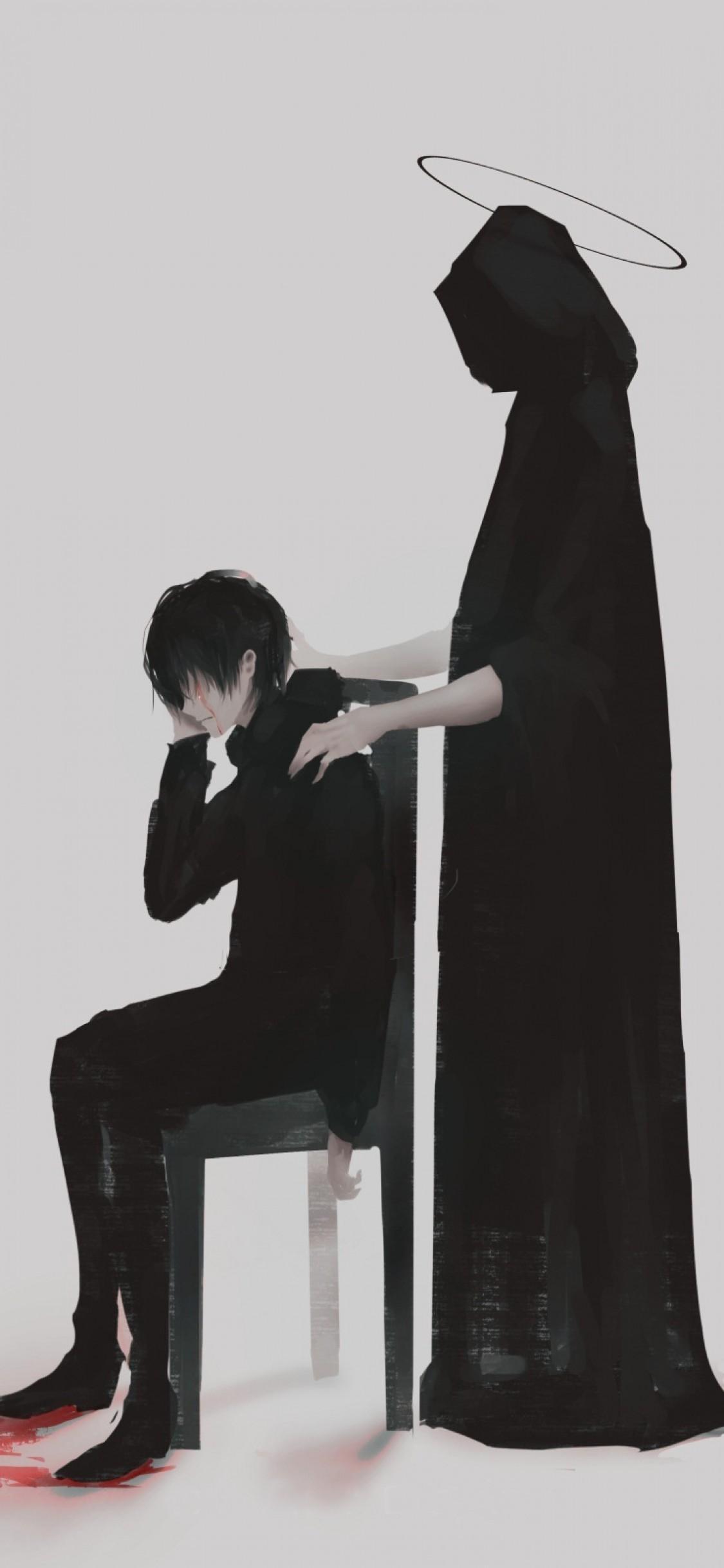 Dark Sad Anime Boy Wallpapers Wallpaper Cave