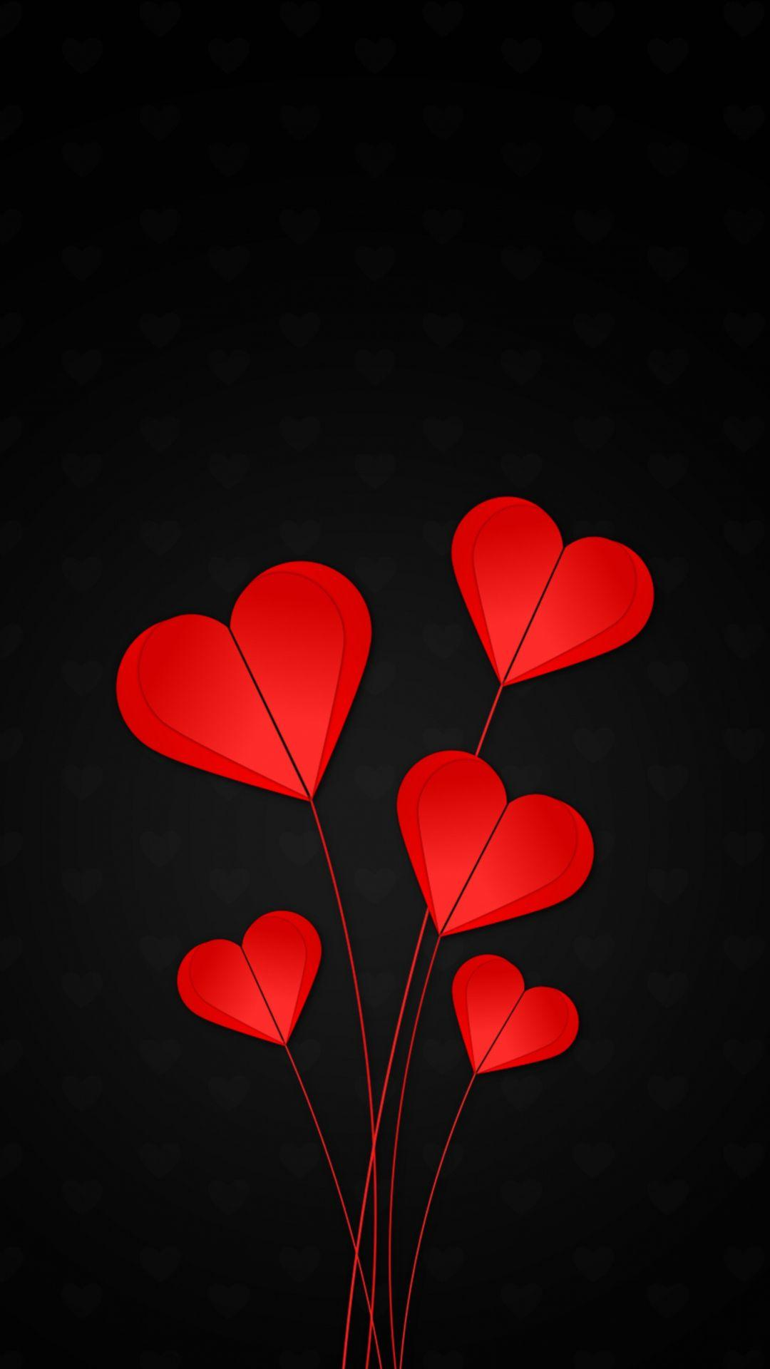 Black Valentine S Day Wallpapers Wallpaper Cave