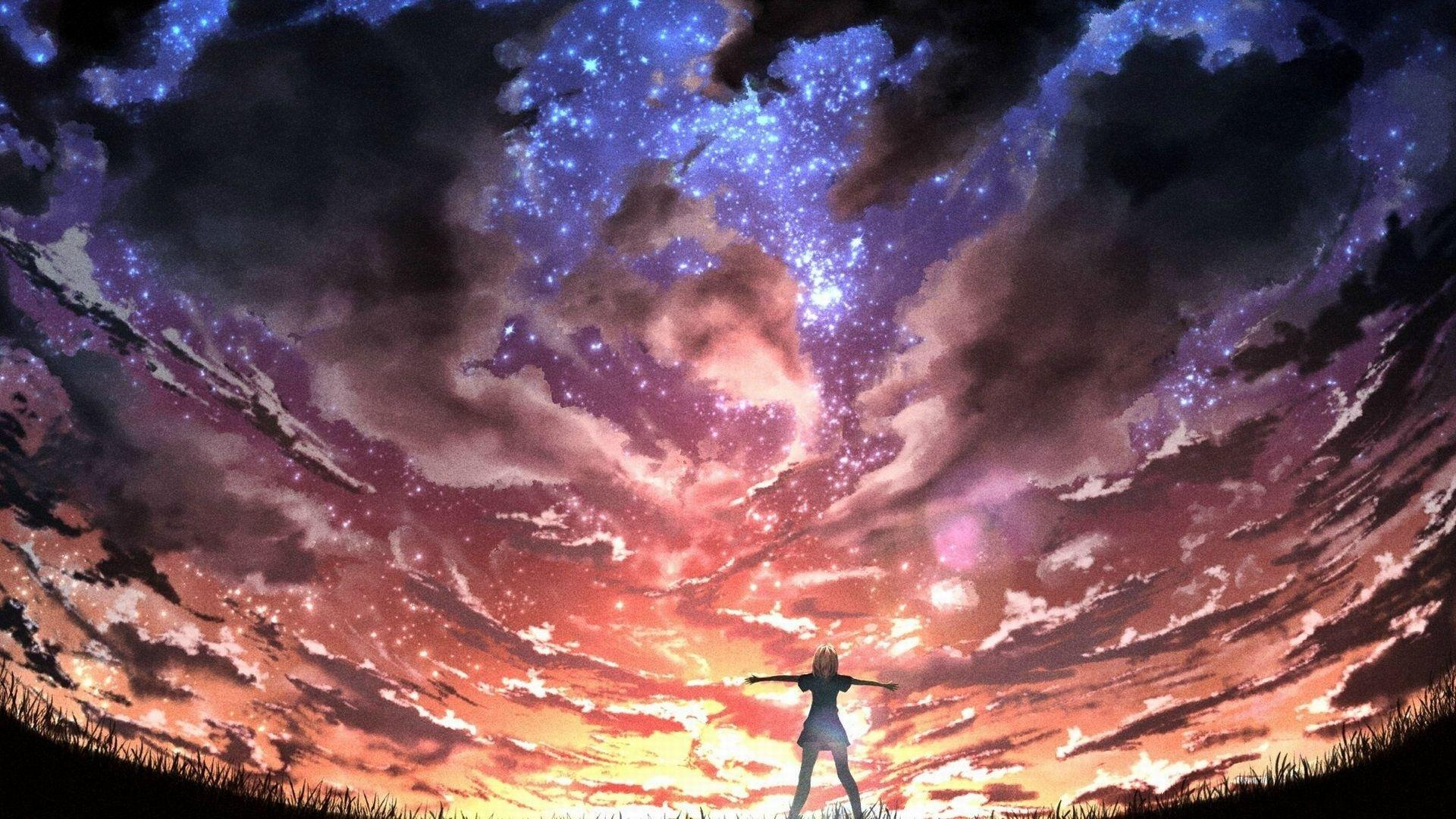 Anime Space Wallpapers Wallpaper Cave