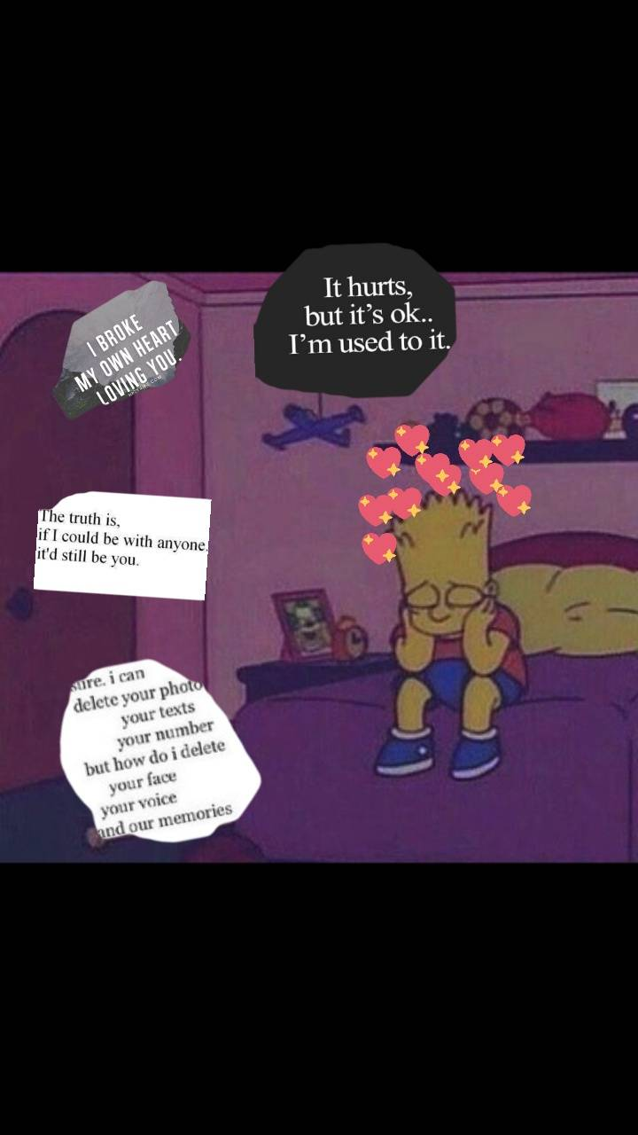 Bart Heart Broken Wallpapers Wallpaper Cave