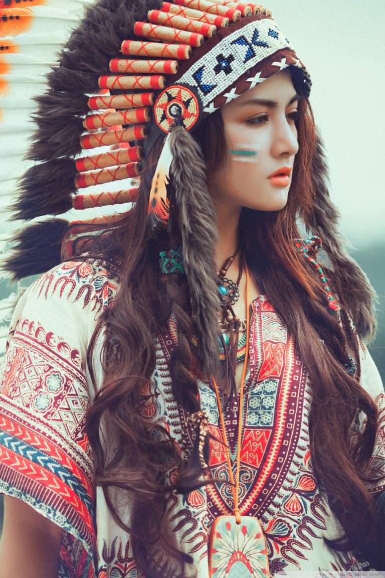 Red Indian Girl 4k Iphone Wallpapers Wallpaper Cave