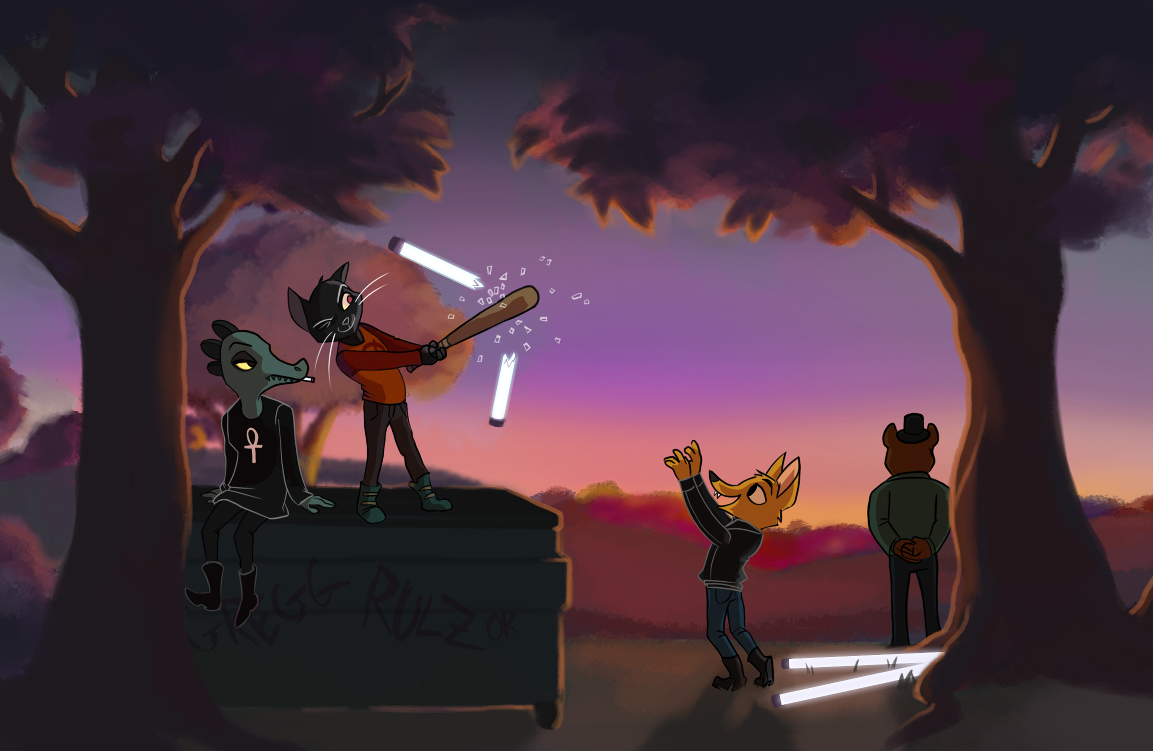 Night In The Woods Desktop Wallpapers Wallpaper Cave