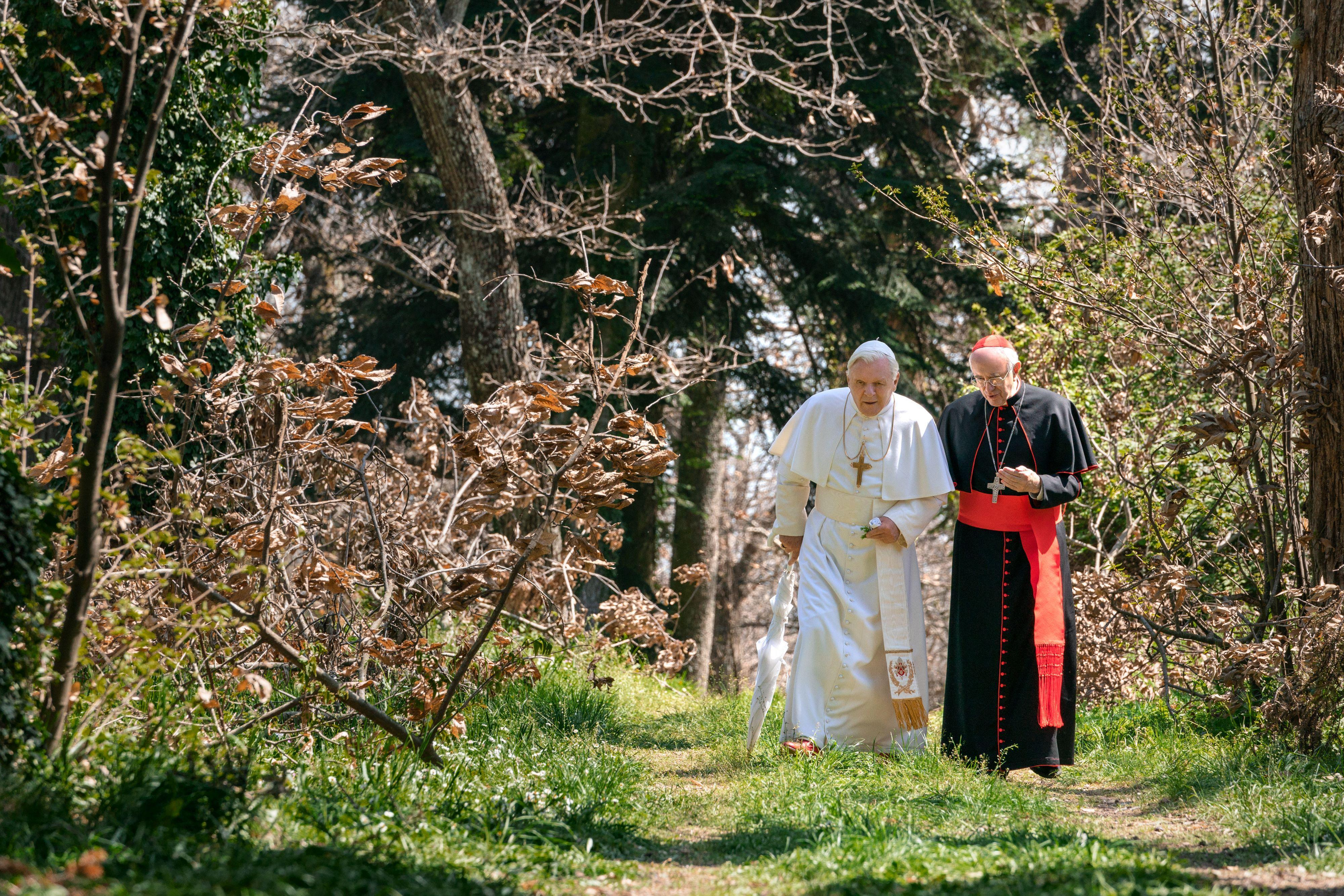 Movie review: 'The Two Popes' will give Oscar voters two